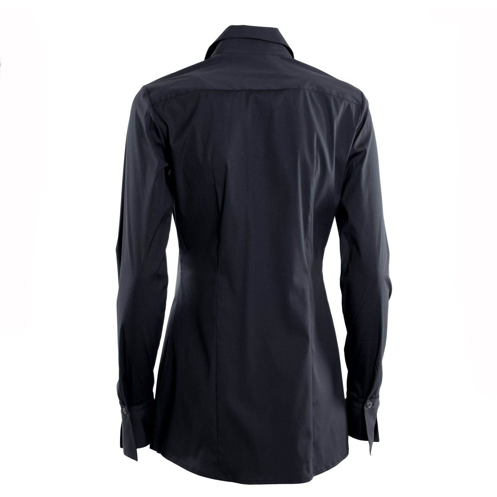 Jennifer Tattanelli crafted in Florence this timeless wardrobe essential, this classic black long-sleeved women shirt is crafted from high quality cotton