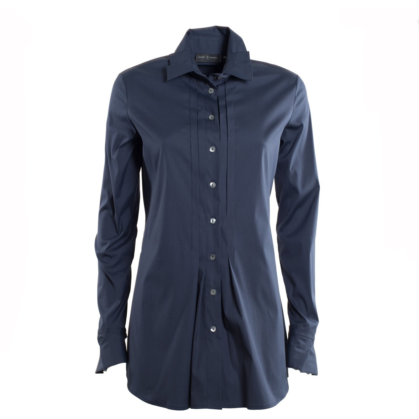 Jennifer Tattanelli crafted in Florence this timeless wardrobe essential, this classic blue long-sleeved women shirt is crafted from high quality cotton