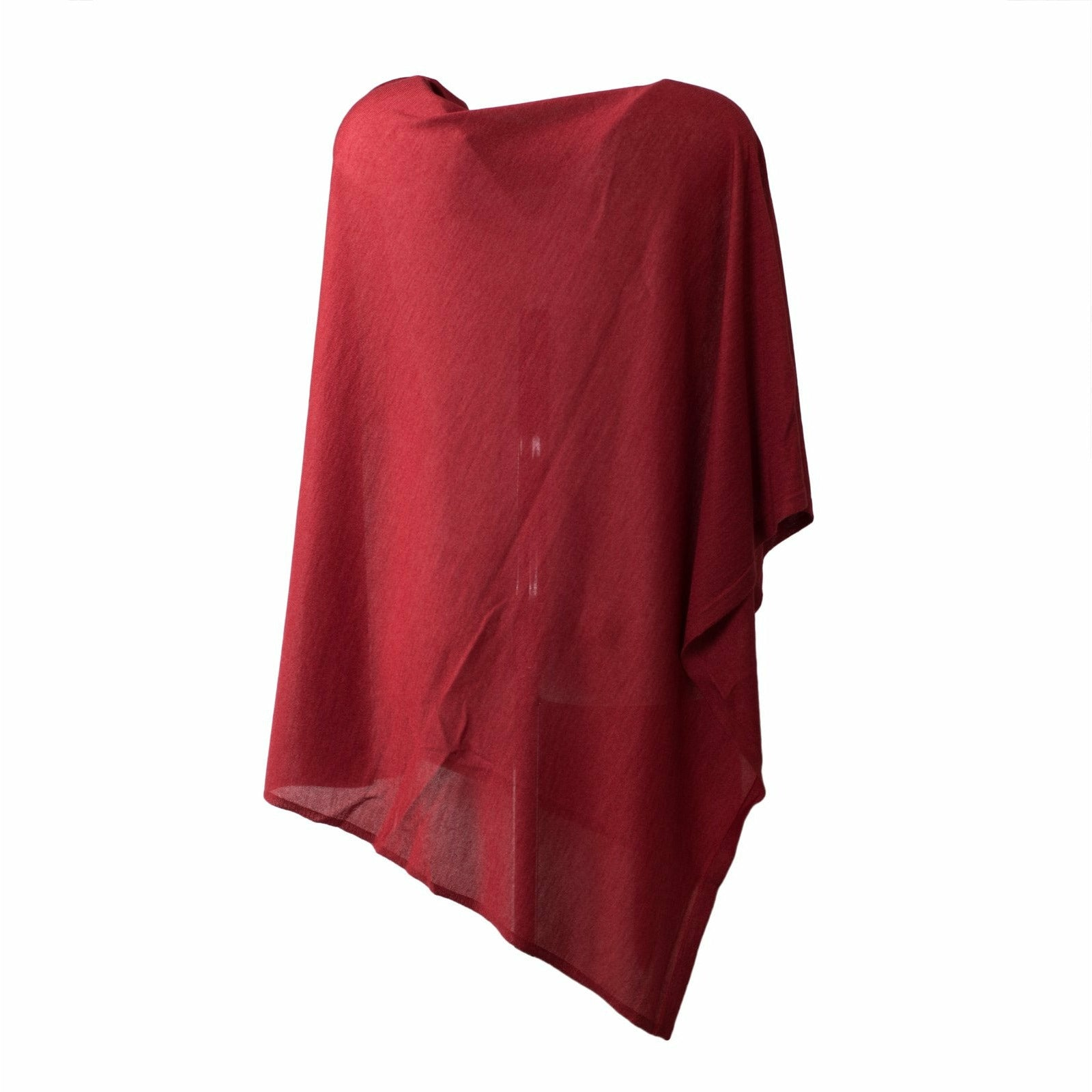 Large Pashmina Poncho in Red - Jennifer Tattanelli