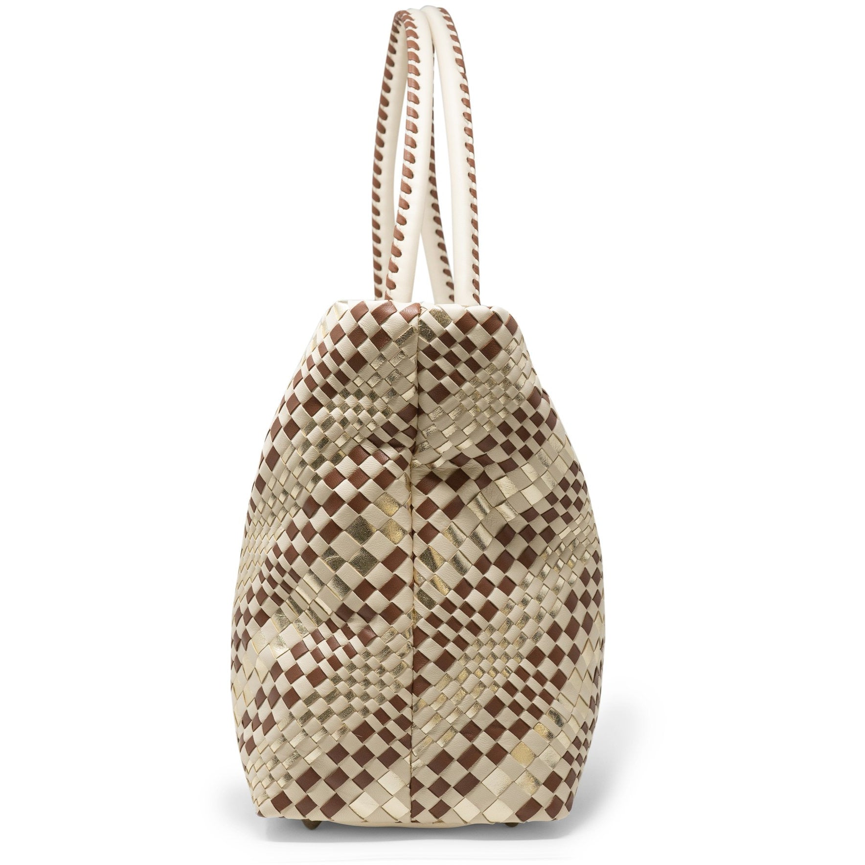 Sophia Maxi Intrecciato Zippered Shopping Bag - Jennifer Tattanelli