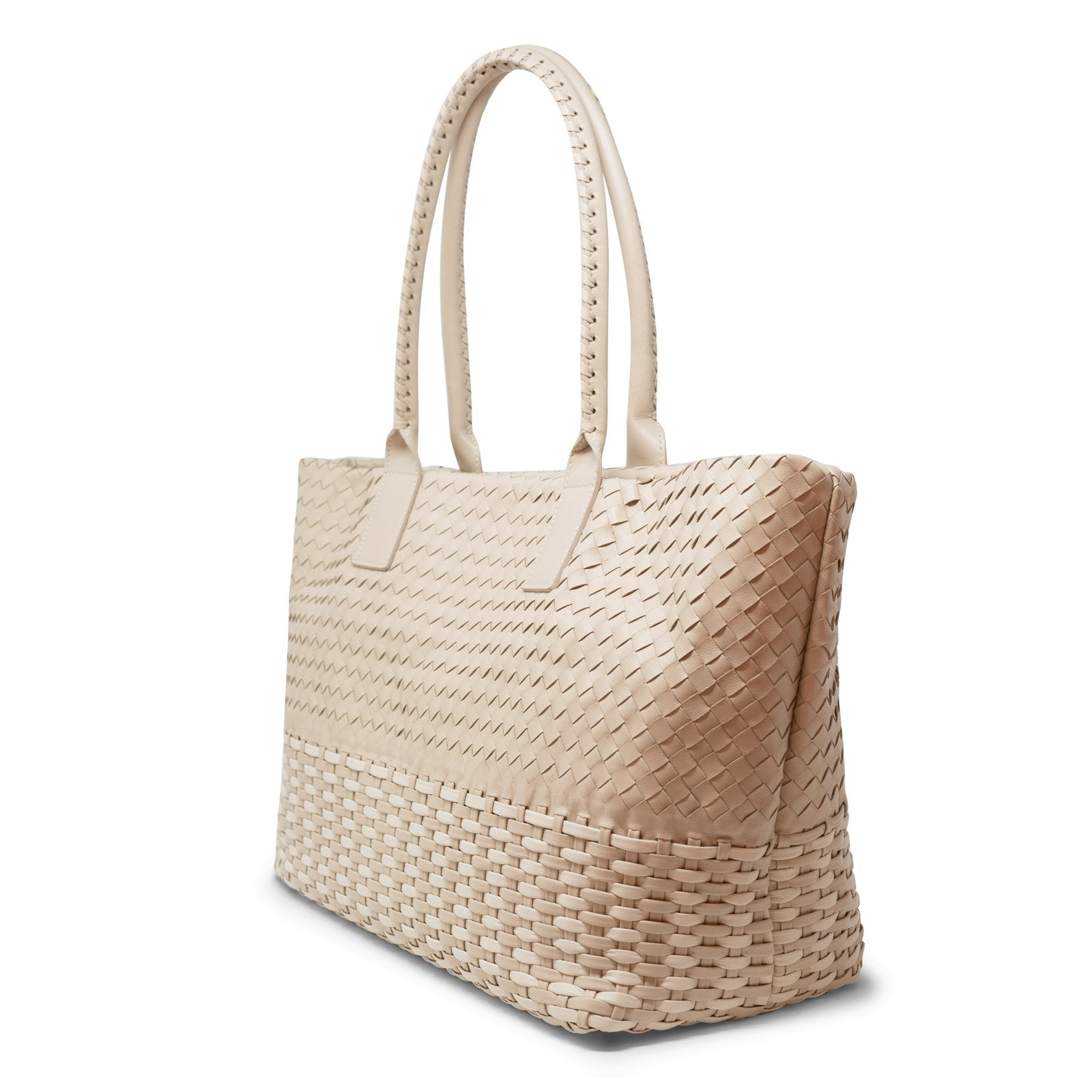 Maxi Zippered Leather Shopping Bag - Intrecciato Quadro Canestro 5045 40 Zip Lunga - Jennifer Tattanelli