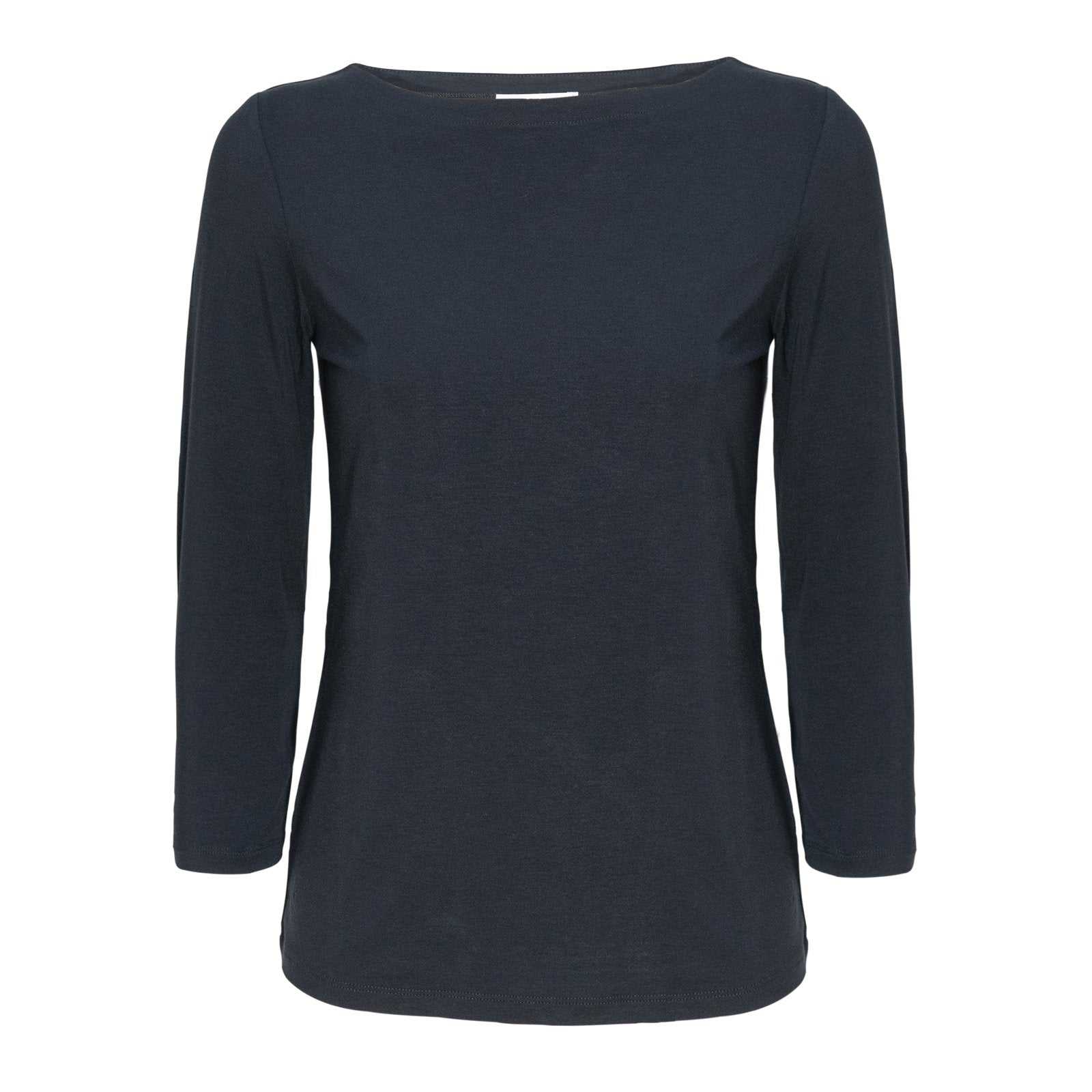 Women Barchetta Neck Blu Knitwear PUR1242 - Jennifer Tattanelli