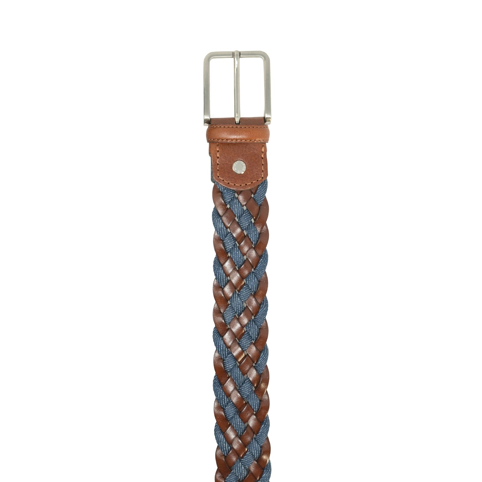 Unisex Braided Leather Belt in Cuoio - Jennifer Tattanelli