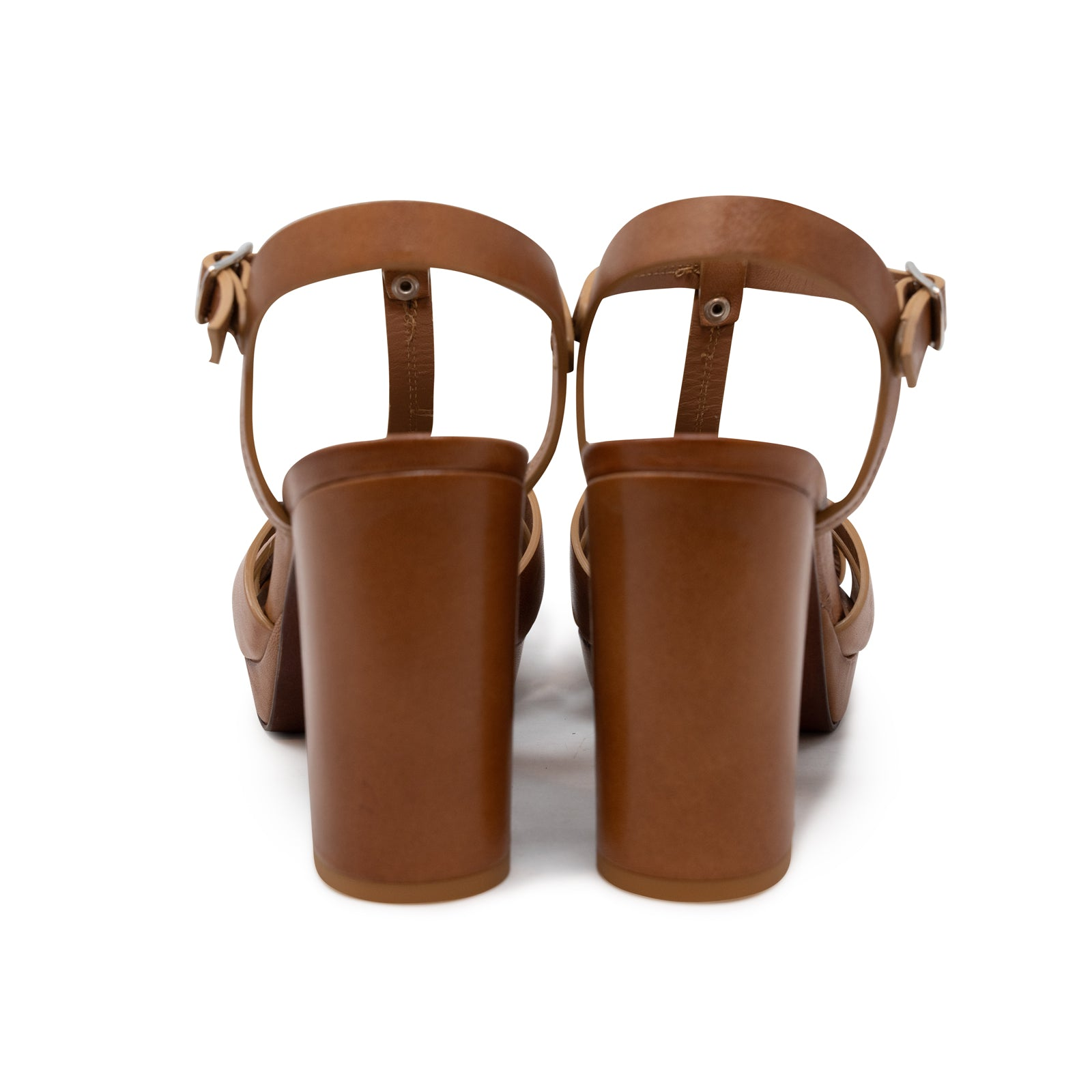 Copy of Women's Buffered Leather Platform Sandals in Sella