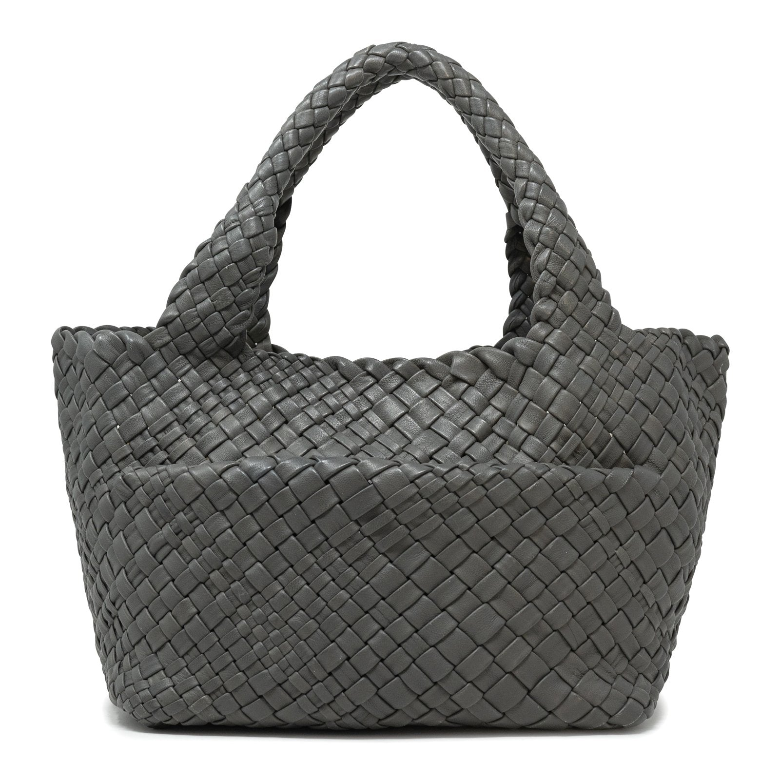 Women Intrecciato Optical Tote in Grey - Jennifer Tattanelli