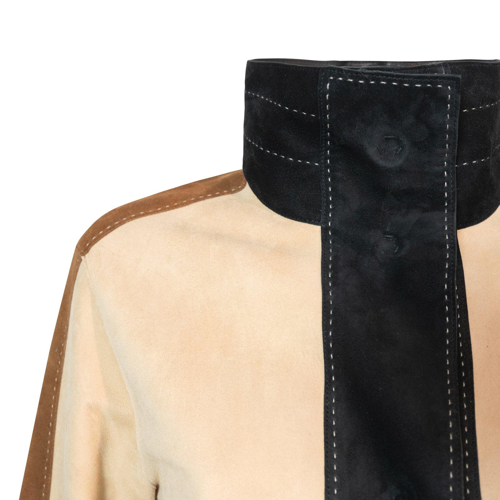 AURORA Reversible Leather Jacket in Black, Nude and Nocciola