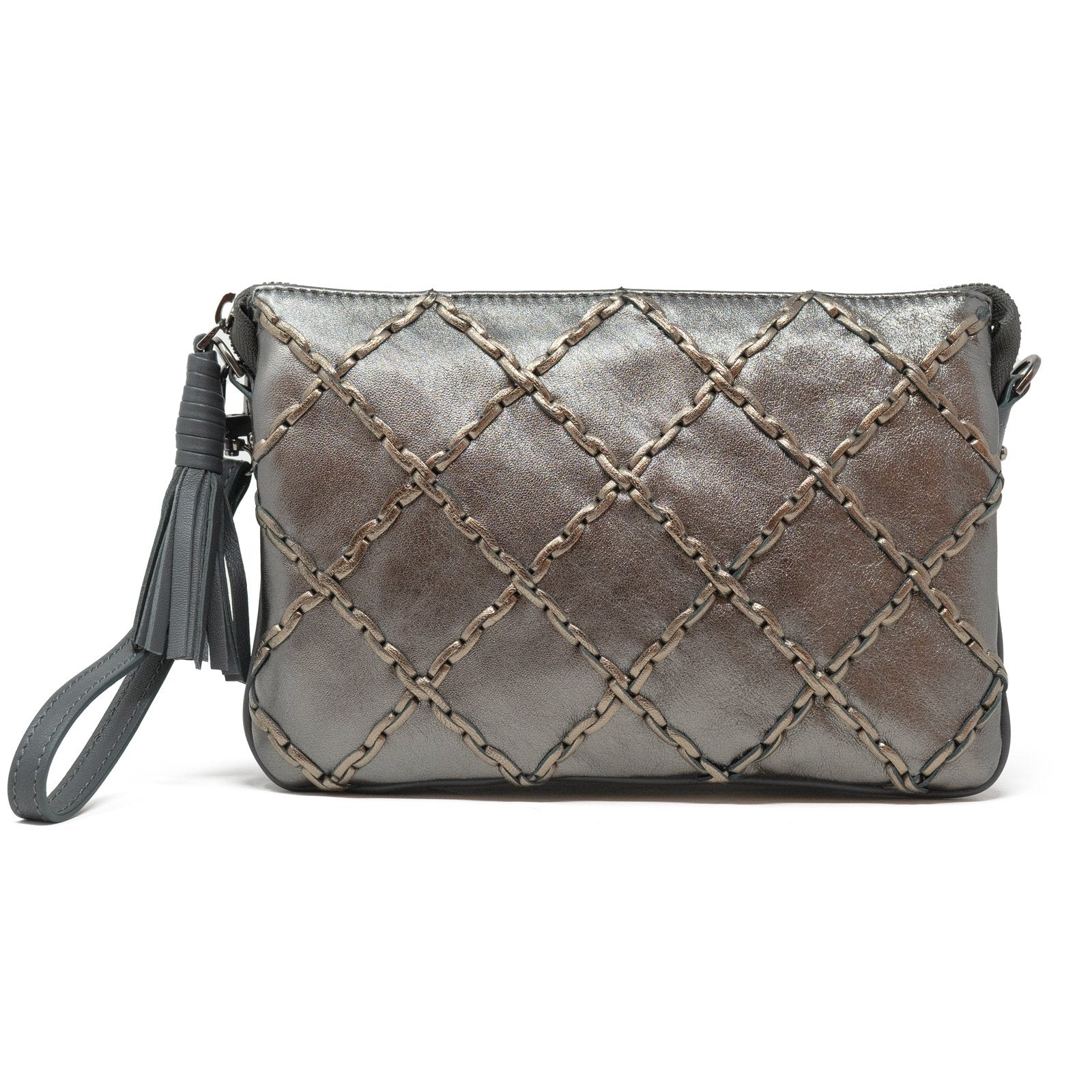 Woman Leather Clutch Grillage - Jennifer Tattanelli