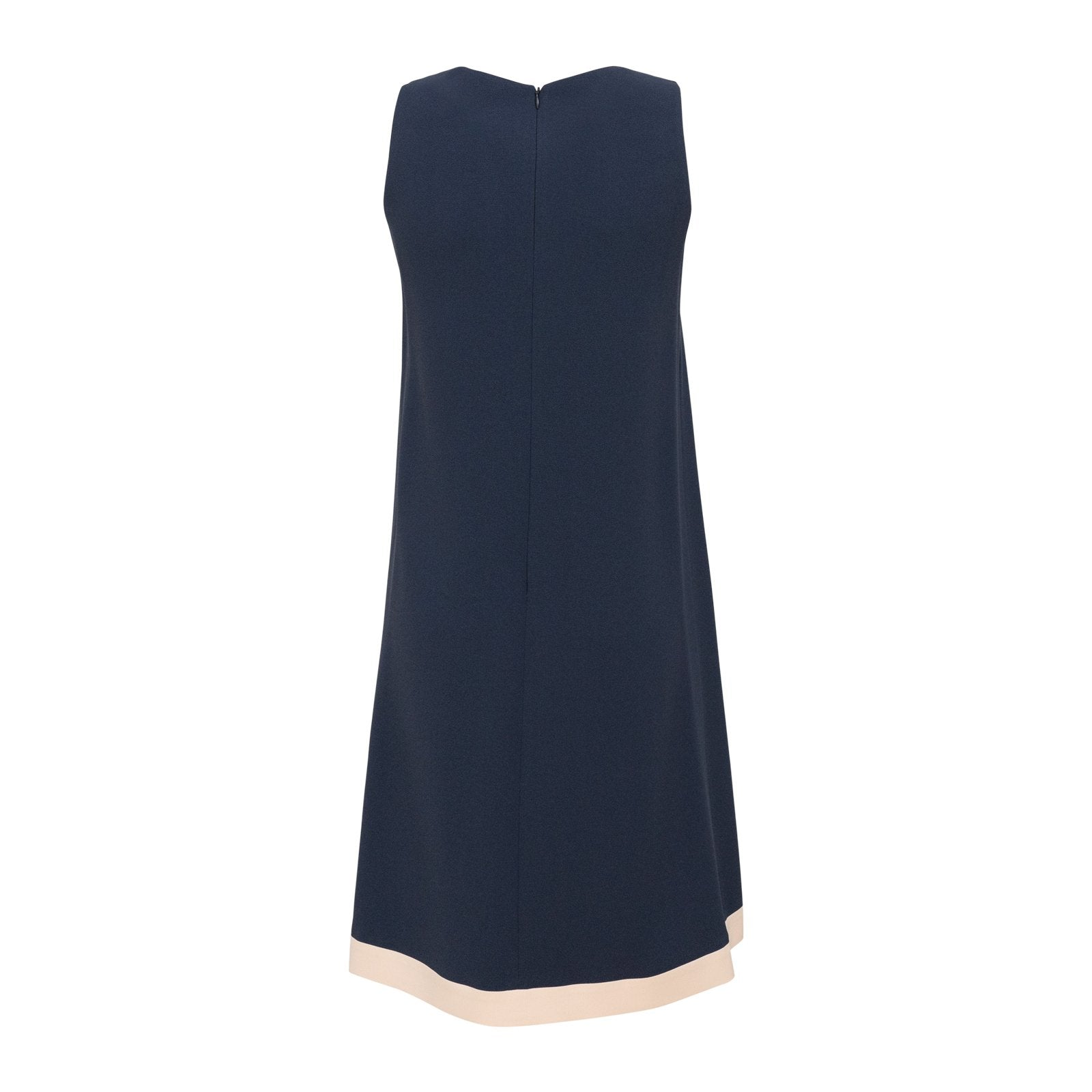 Sleeveless Viscose Sheath Dress in Blue - Jennifer Tattanelli