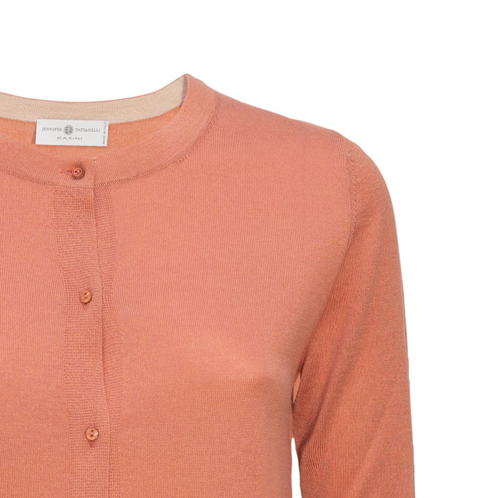 Women Terracotta Cardigan Knitwear PUR2112 - Jennifer Tattanelli