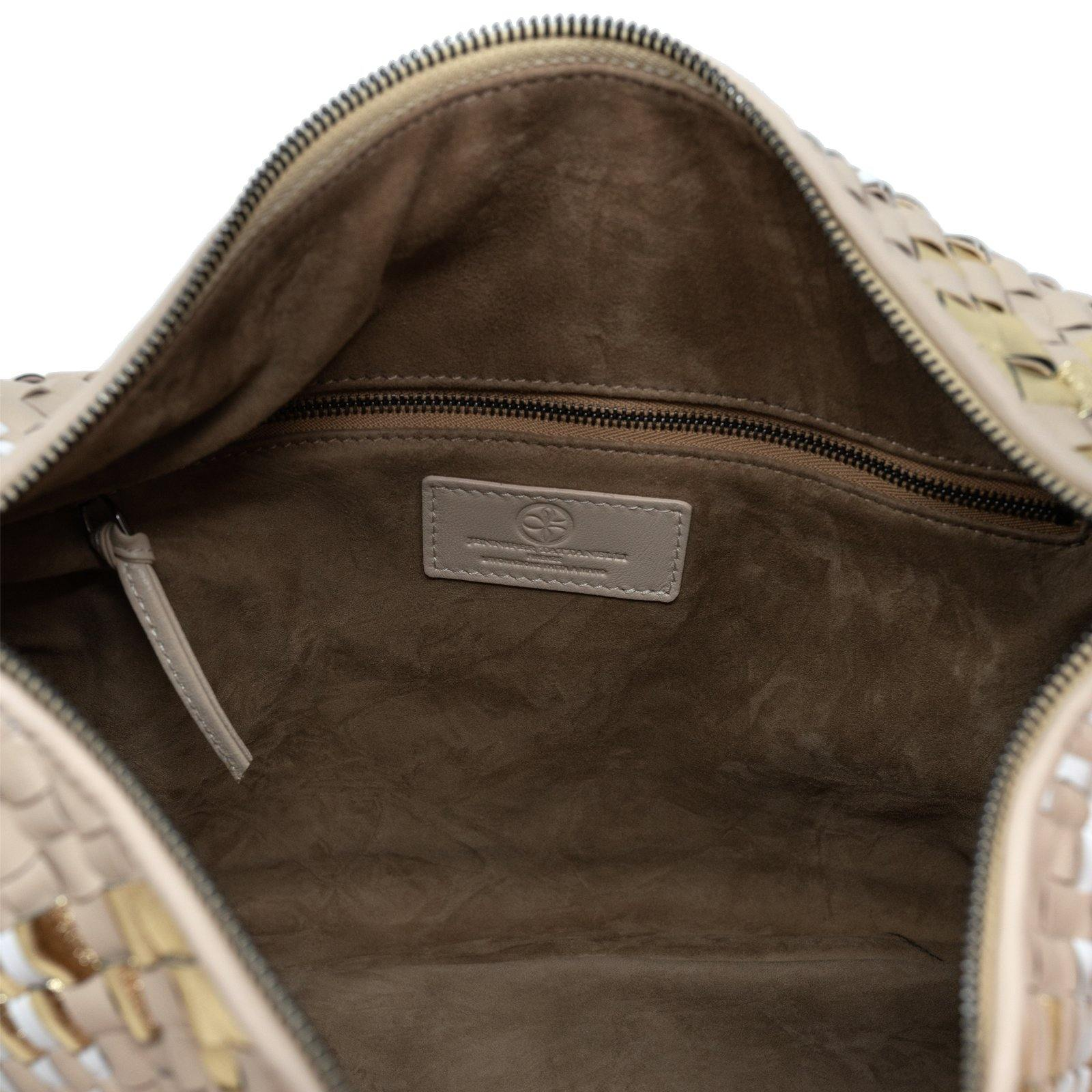 Brigitte Is Women Intrecciato Hobo Bag in Light Grey
