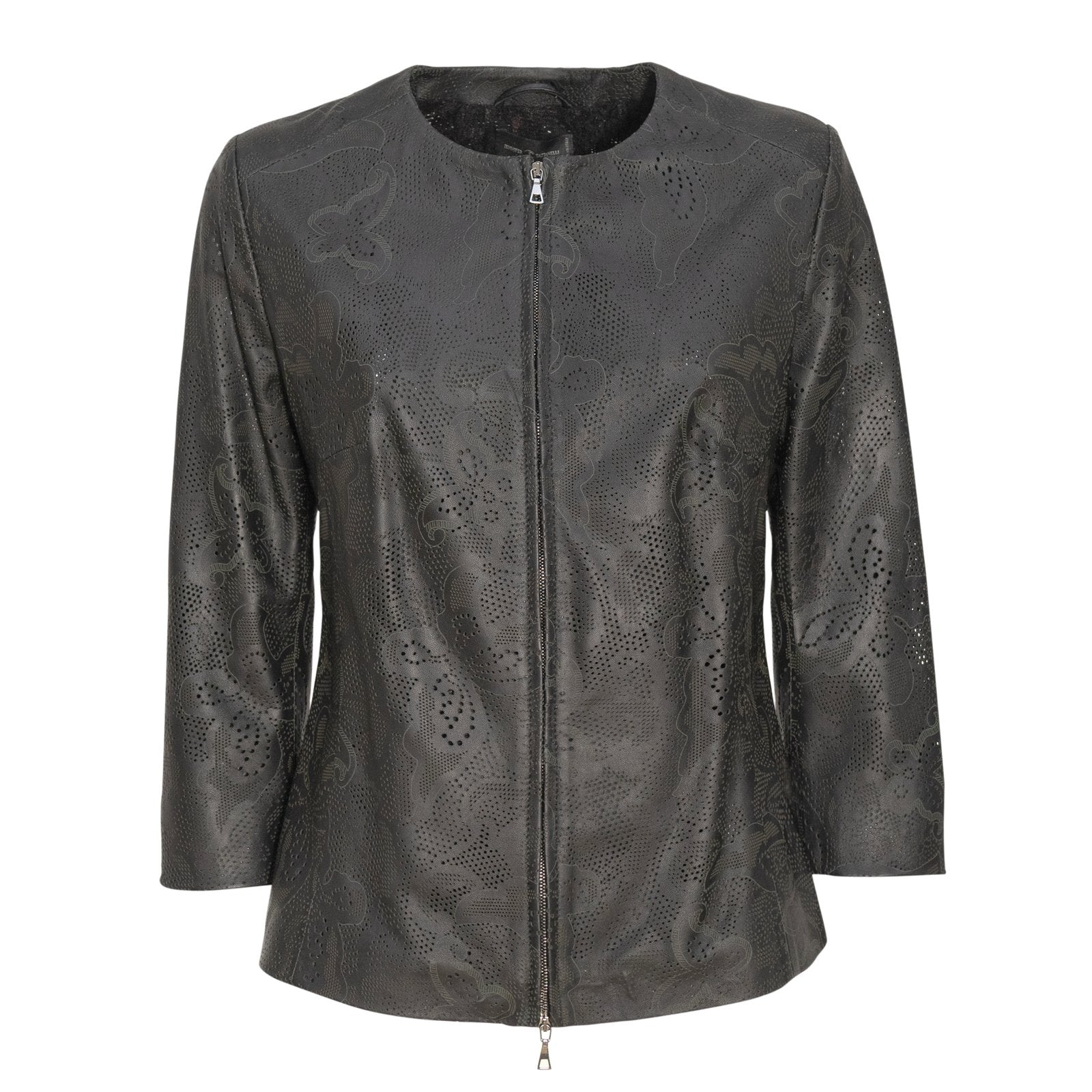 Women Short Leather Lasered Jacket PIAE206L