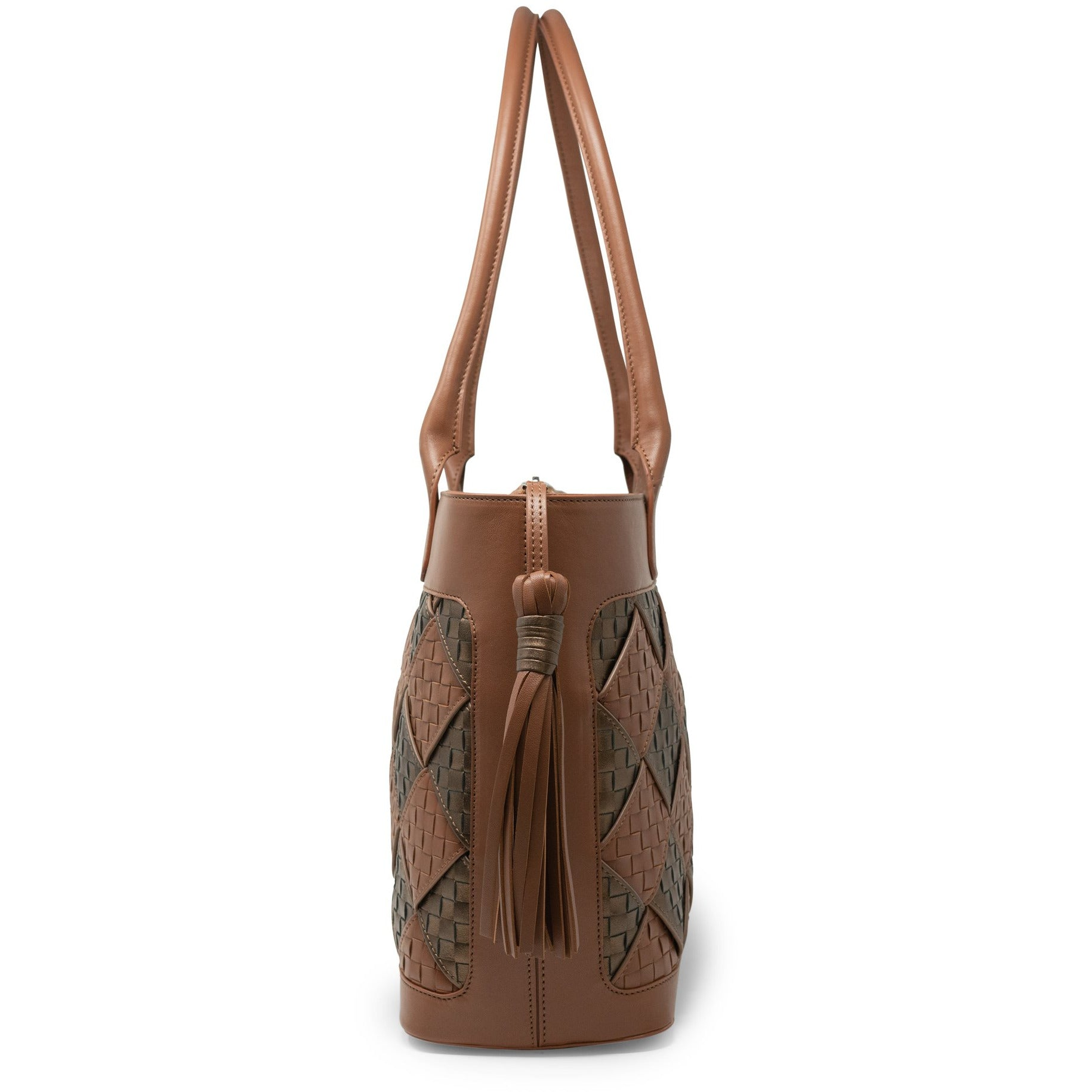 JT317 5570 33 Women Leather Intrecciato Bold Tote Bag - Jennifer Tattanelli