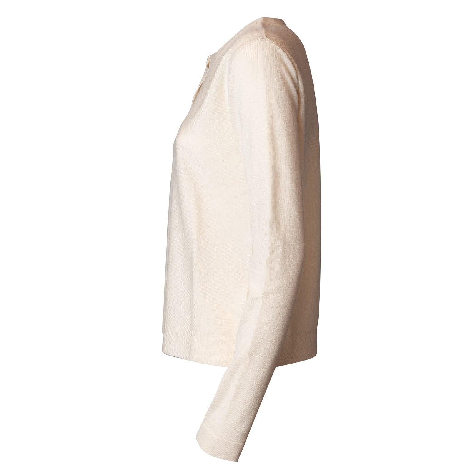 Women Cashmere Cardigan in Milk White