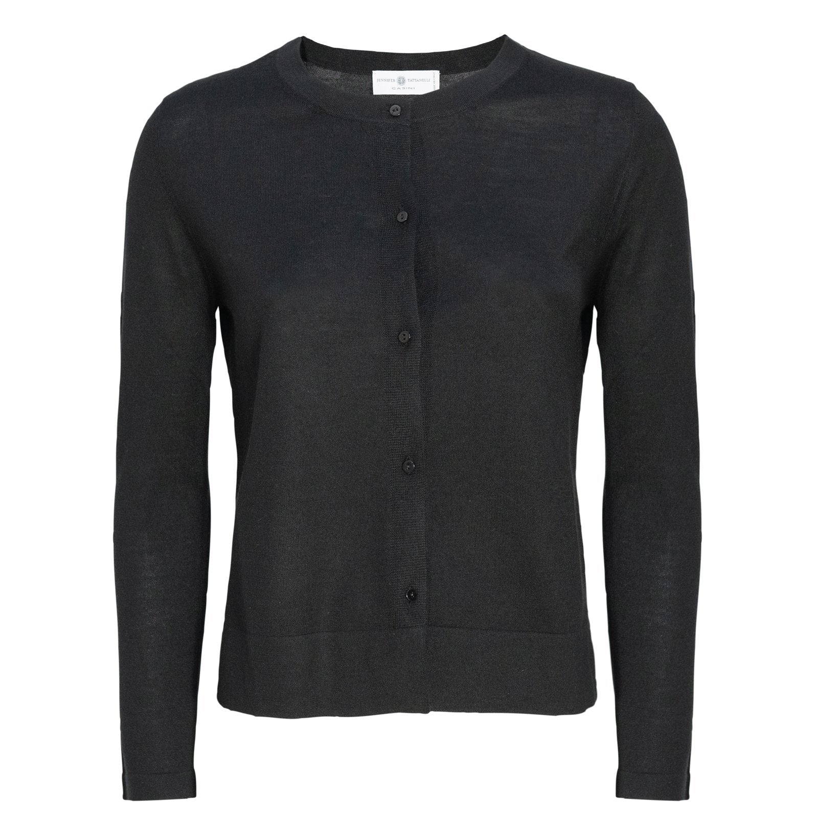 Women Black Cardigan Knitwear PUR2112 - Jennifer Tattanelli