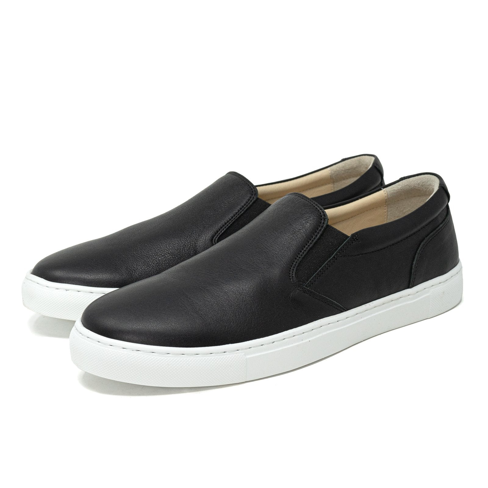 Men and Women Slip-On Sneakers in Nappa Black - Jennifer Tattanelli