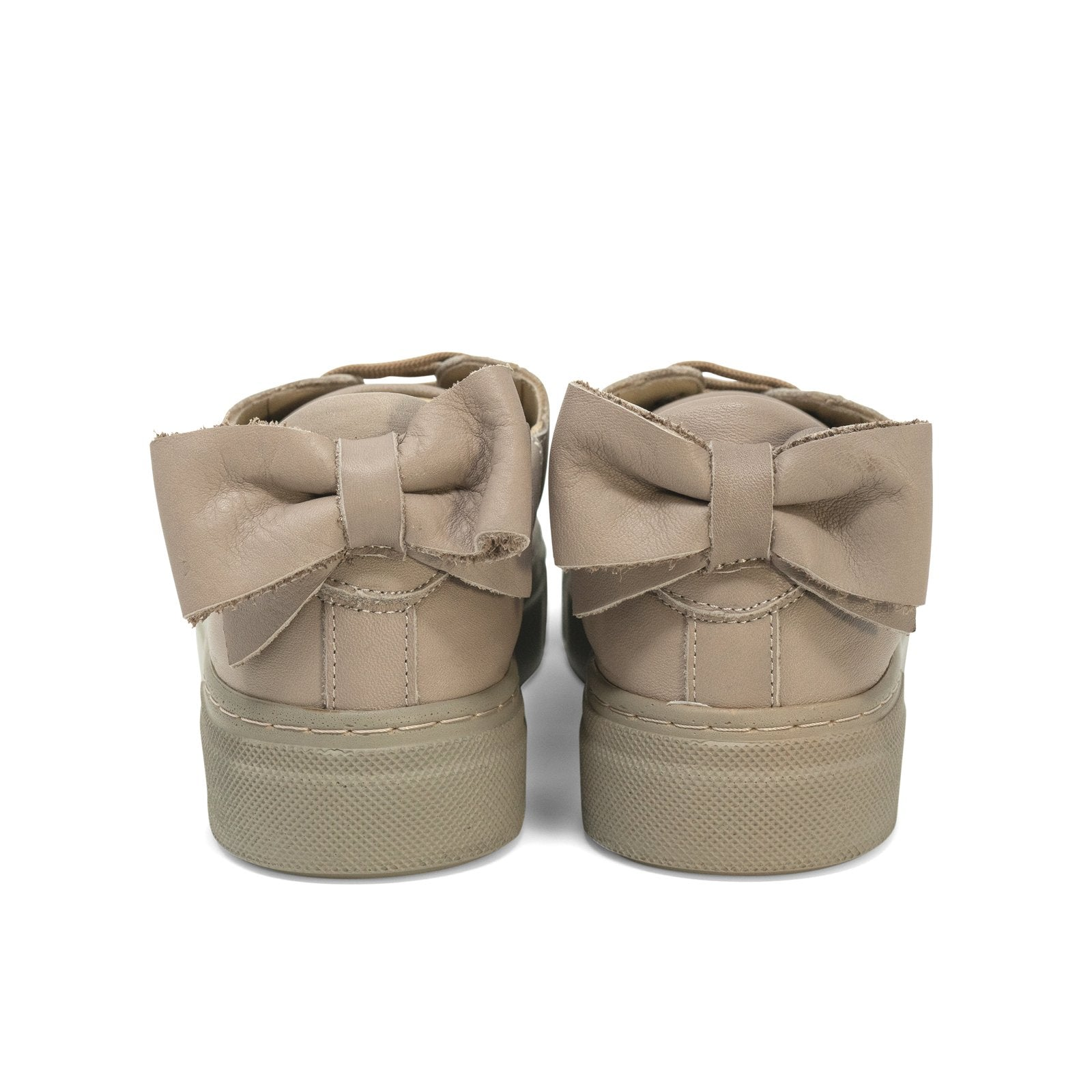 Women Cushion Sneakers with Bow in Tortora - Jennifer Tattanelli