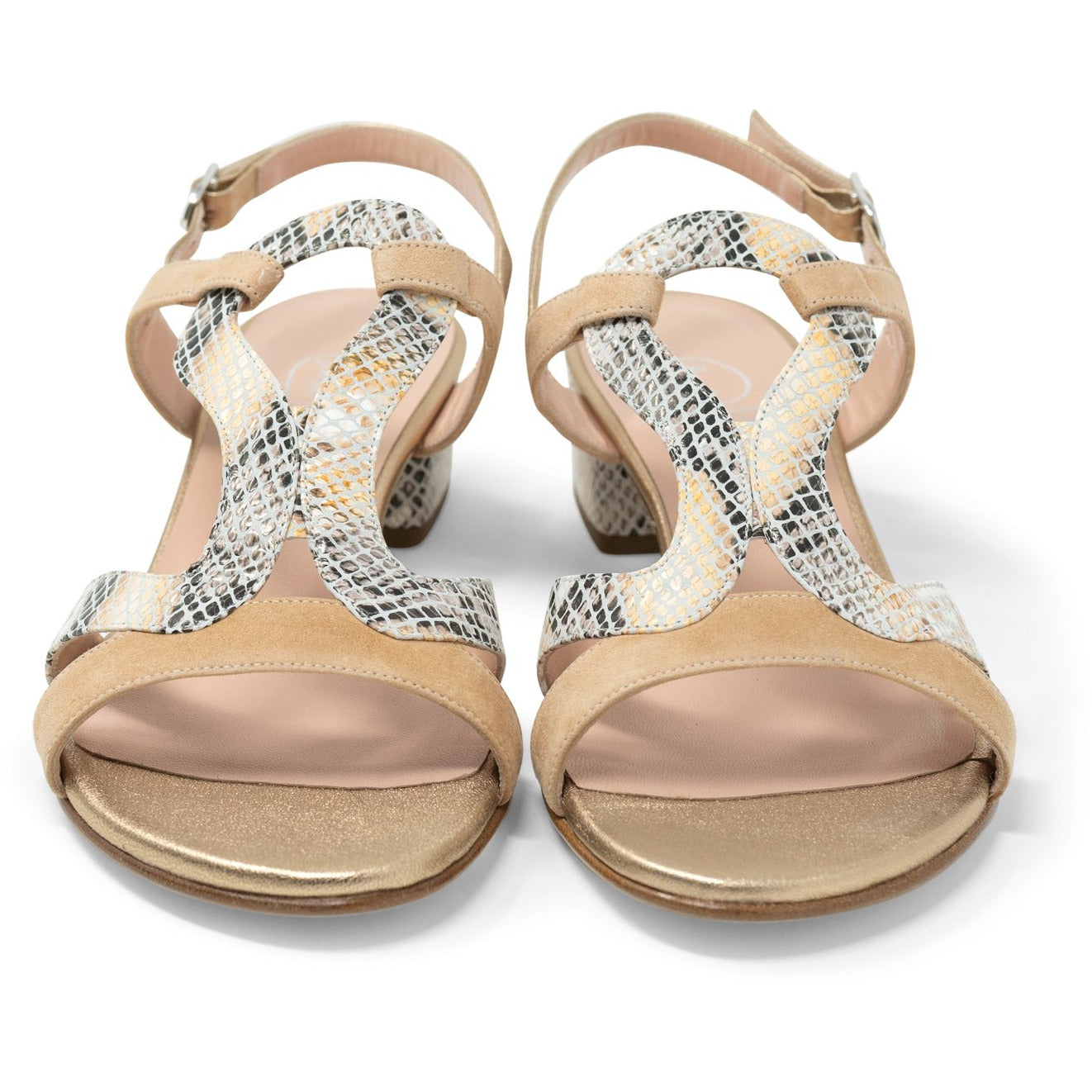 Women Roman Python Sandals in Aurora - Jennifer Tattanelli