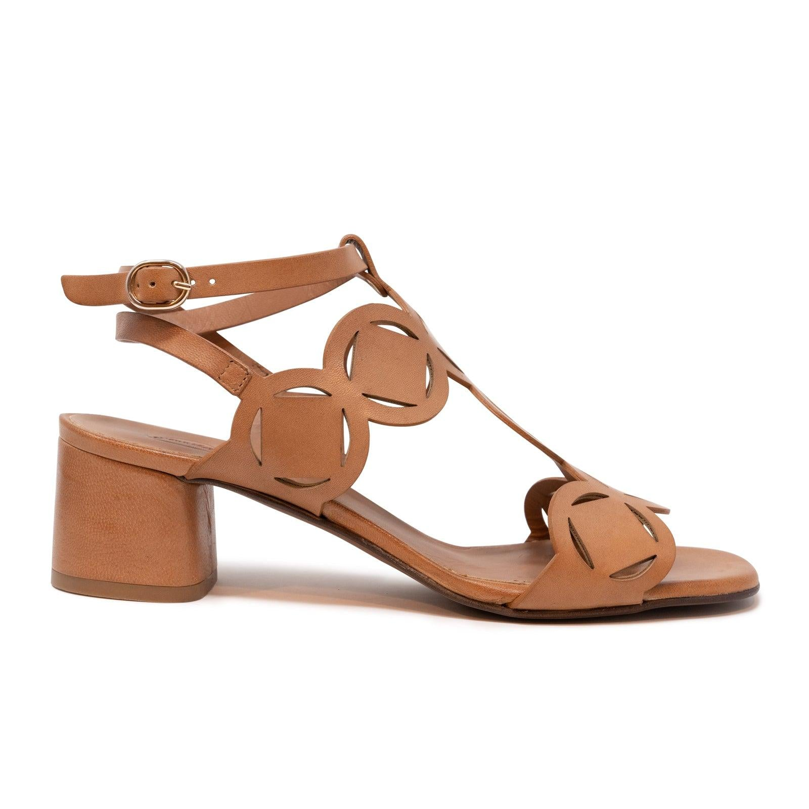 Women's Geometric 60' Leather Sandals in Sella