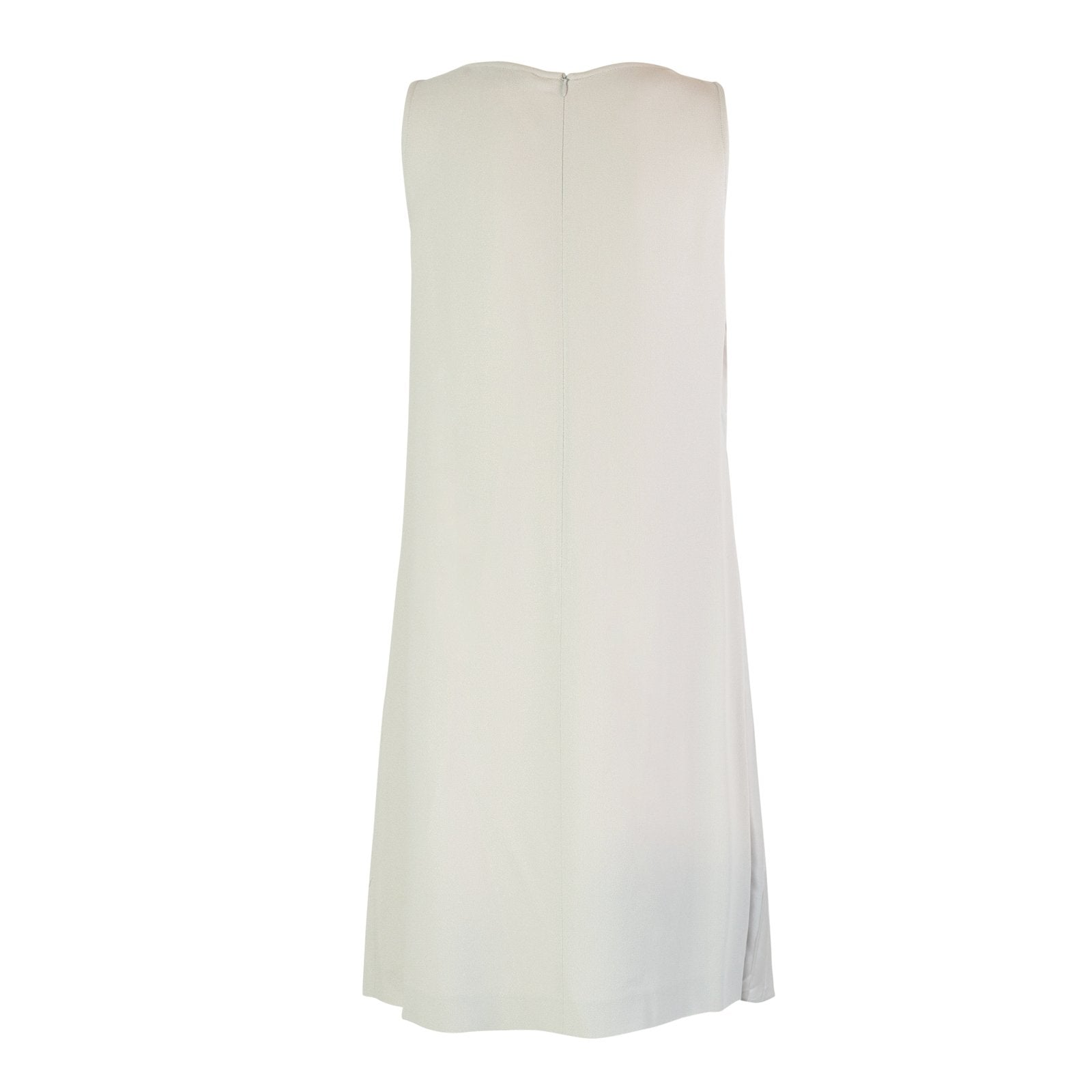 Lupine Women Sleeveless Silk Dress in Grigio Perla - Jennifer Tattanelli