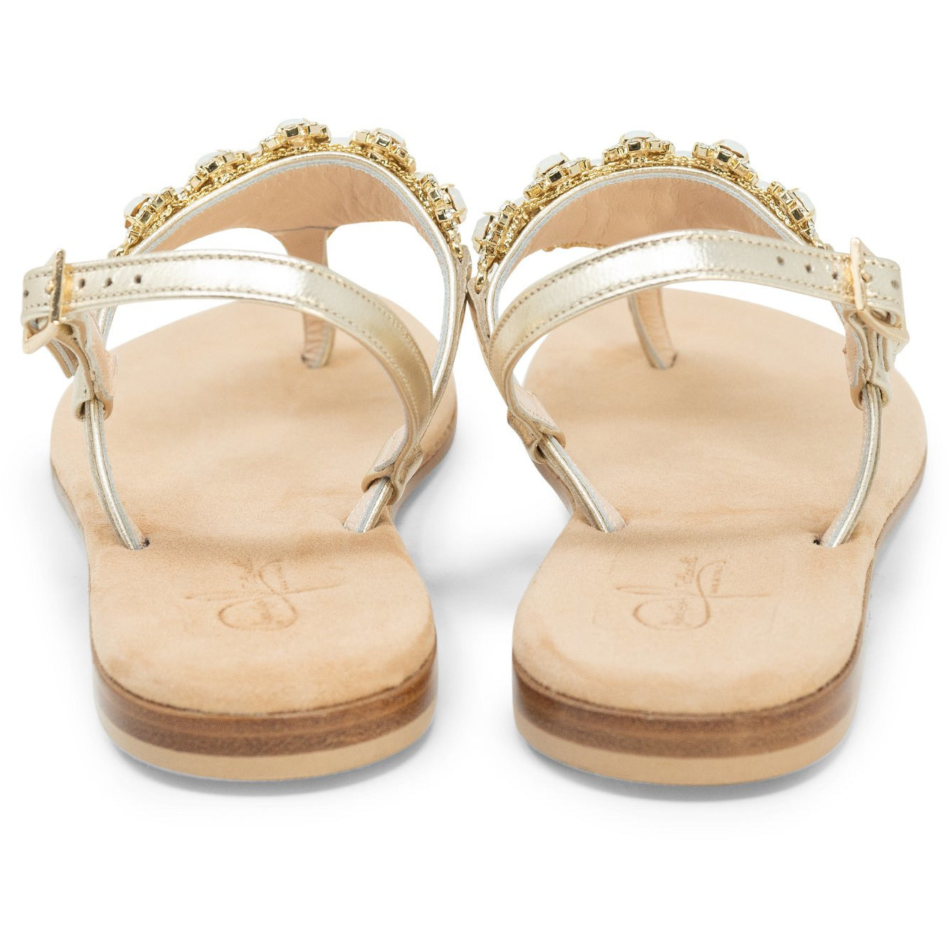 Women Dazzling Crystal Sandals - Jennifer Tattanelli