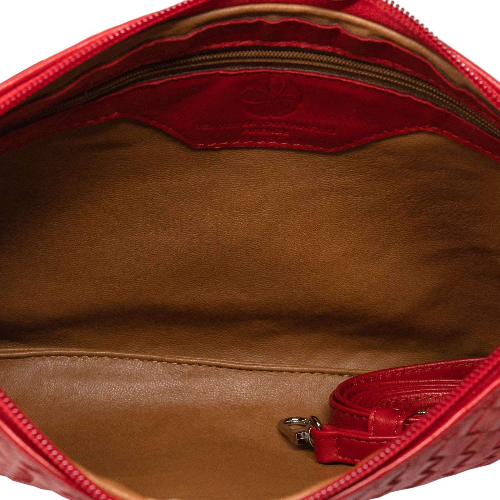 Women Intrecciato Leather Pouch Intrecciato Quadro Bronze - Jennifer Tattanelli