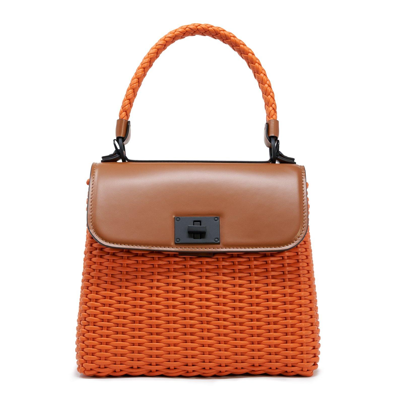 Women Leather Intrecciato Canestro Bag - Jennifer Tattanelli