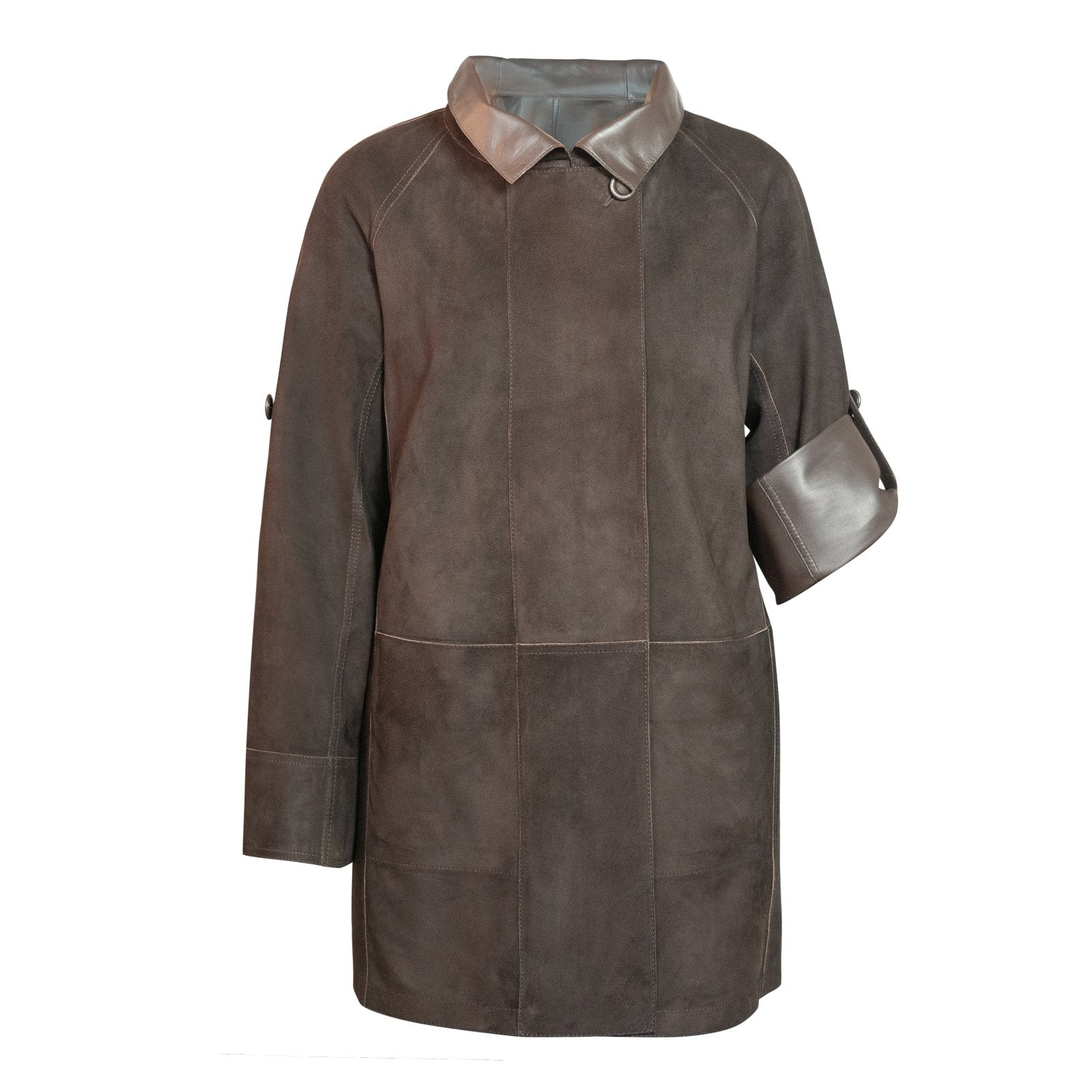 ALBA Reversible Leather Jacket in Brown - Jennifer Tattanelli