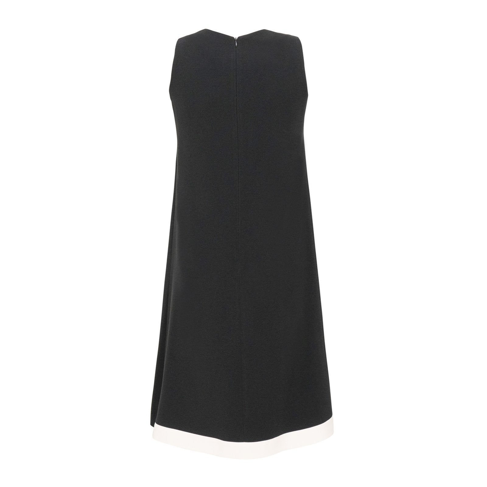 Sleeveless Viscose Sheath Dress in Black - Jennifer Tattanelli