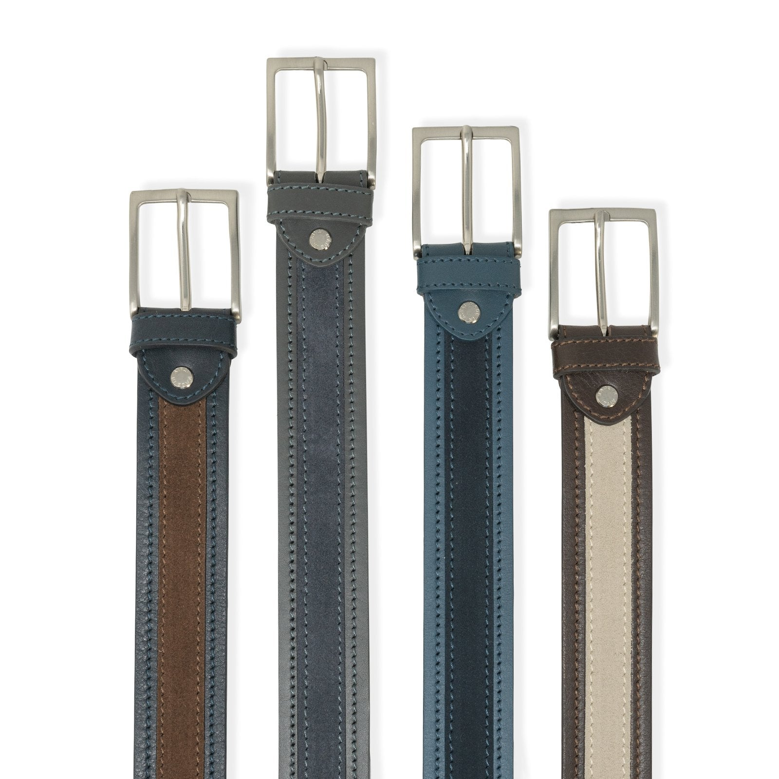 Nappa and Suede Belt GIAN10535 - Jennifer Tattanelli