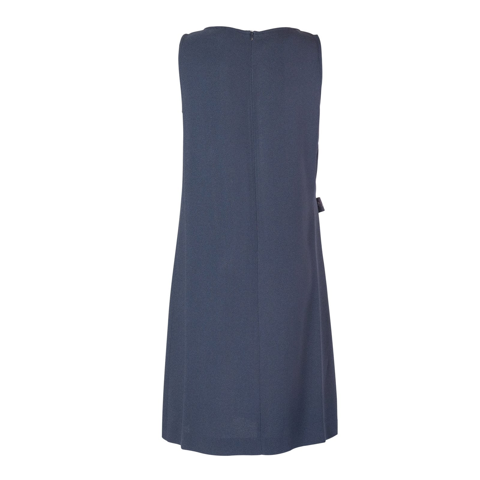 Lupine Women Sleeveless Silk Dress in Blue - Jennifer Tattanelli