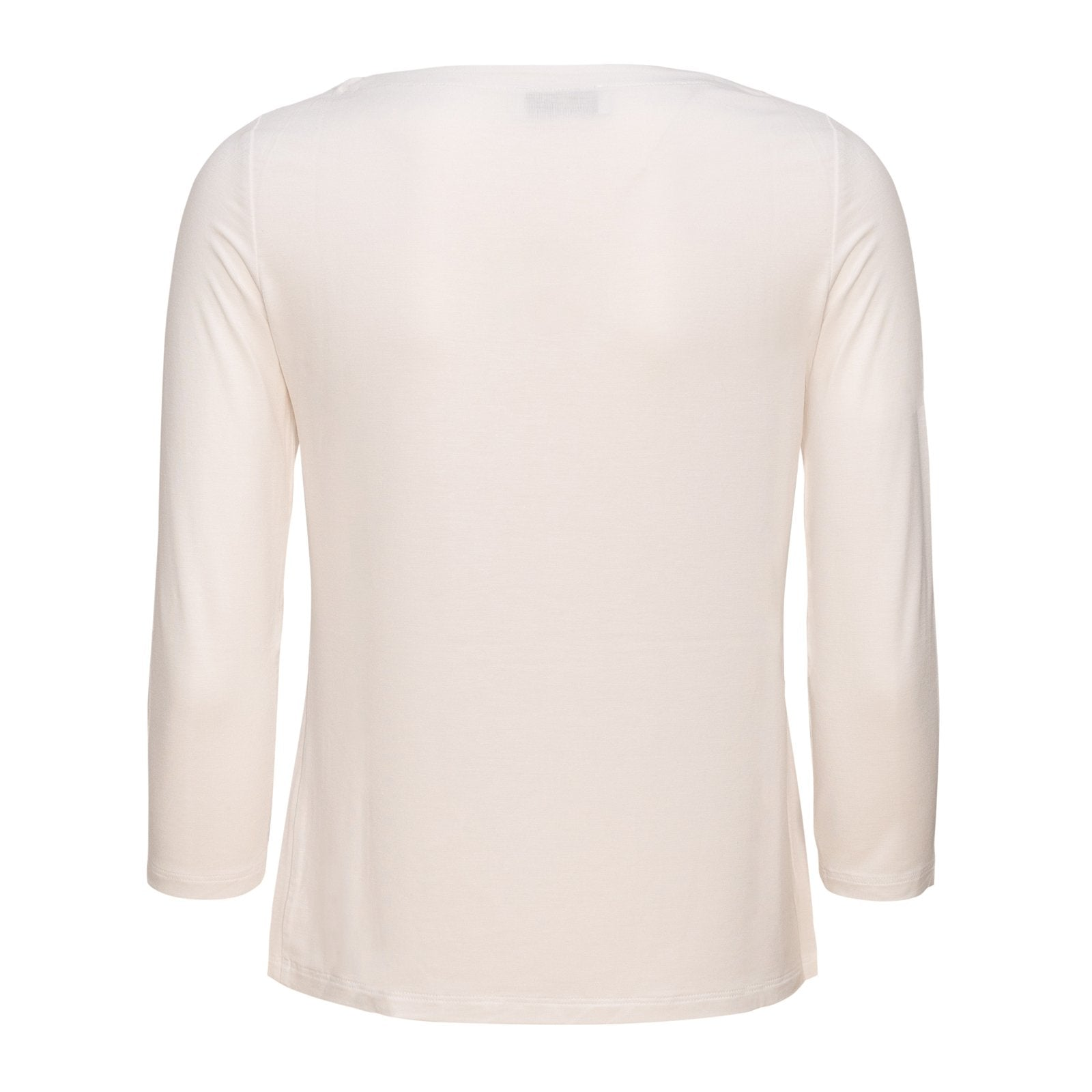 Women Barchetta Neck White Knitwear PUR1242 - Jennifer Tattanelli