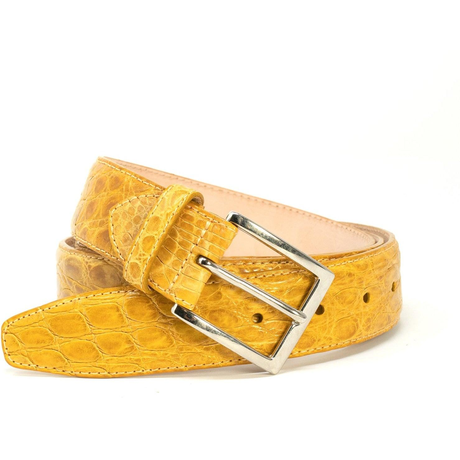 Yellow Crocodile Belt - New Spring Summer 2020 Collection SAN44 107