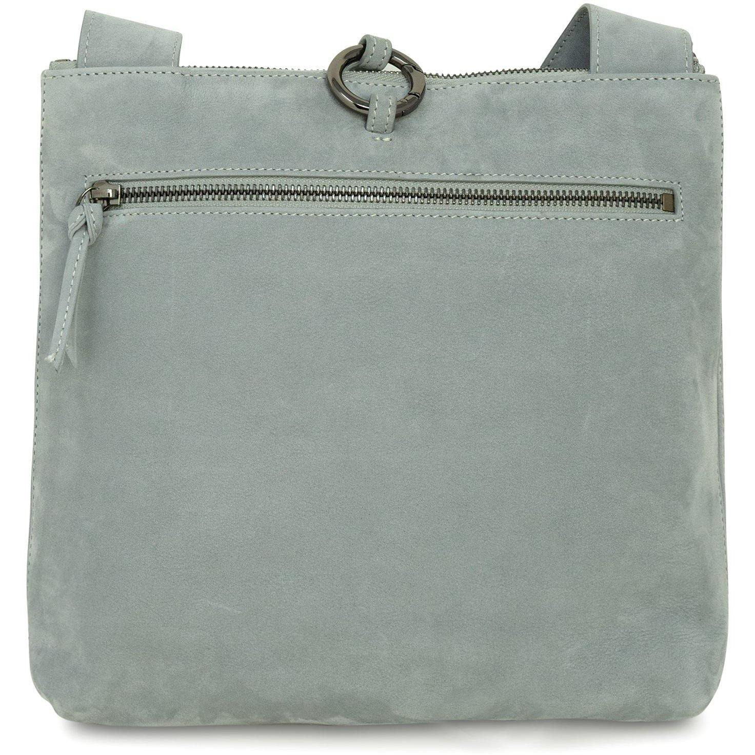 GINGER IS Crossbody Intrecciato Optical Bag in Nabuk Pearl Grey - Jennifer Tattanelli