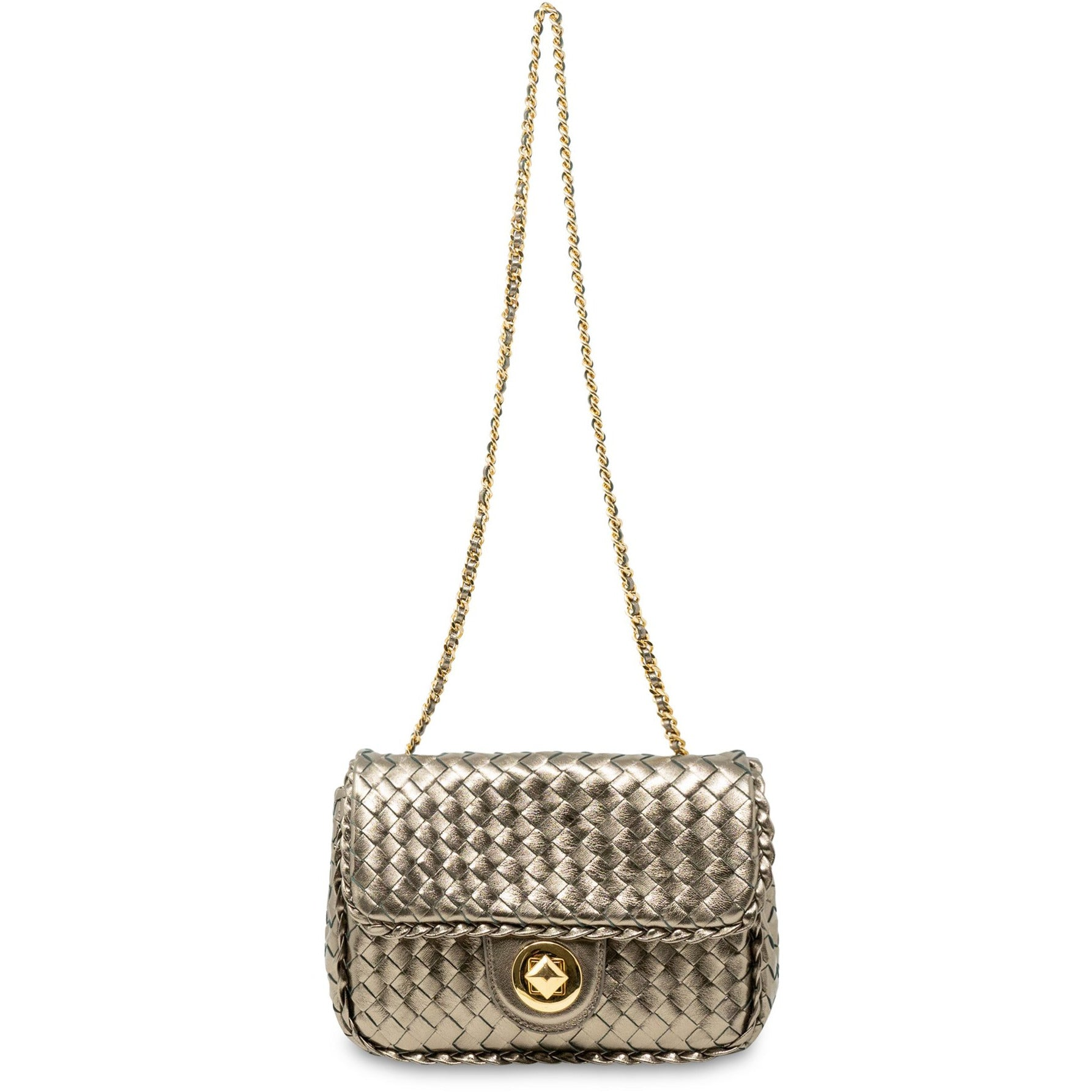 JT189 5304 20 Women Intrecciato Diagonale Leather Clutch Bag - Jennifer Tattanelli