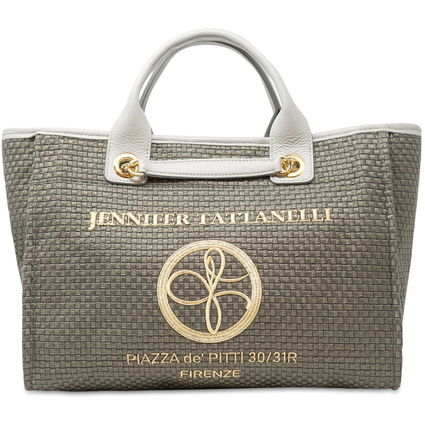 The Palm Beach Medium Shopping Bag in Pearl Grey - Jennifer Tattanelli
