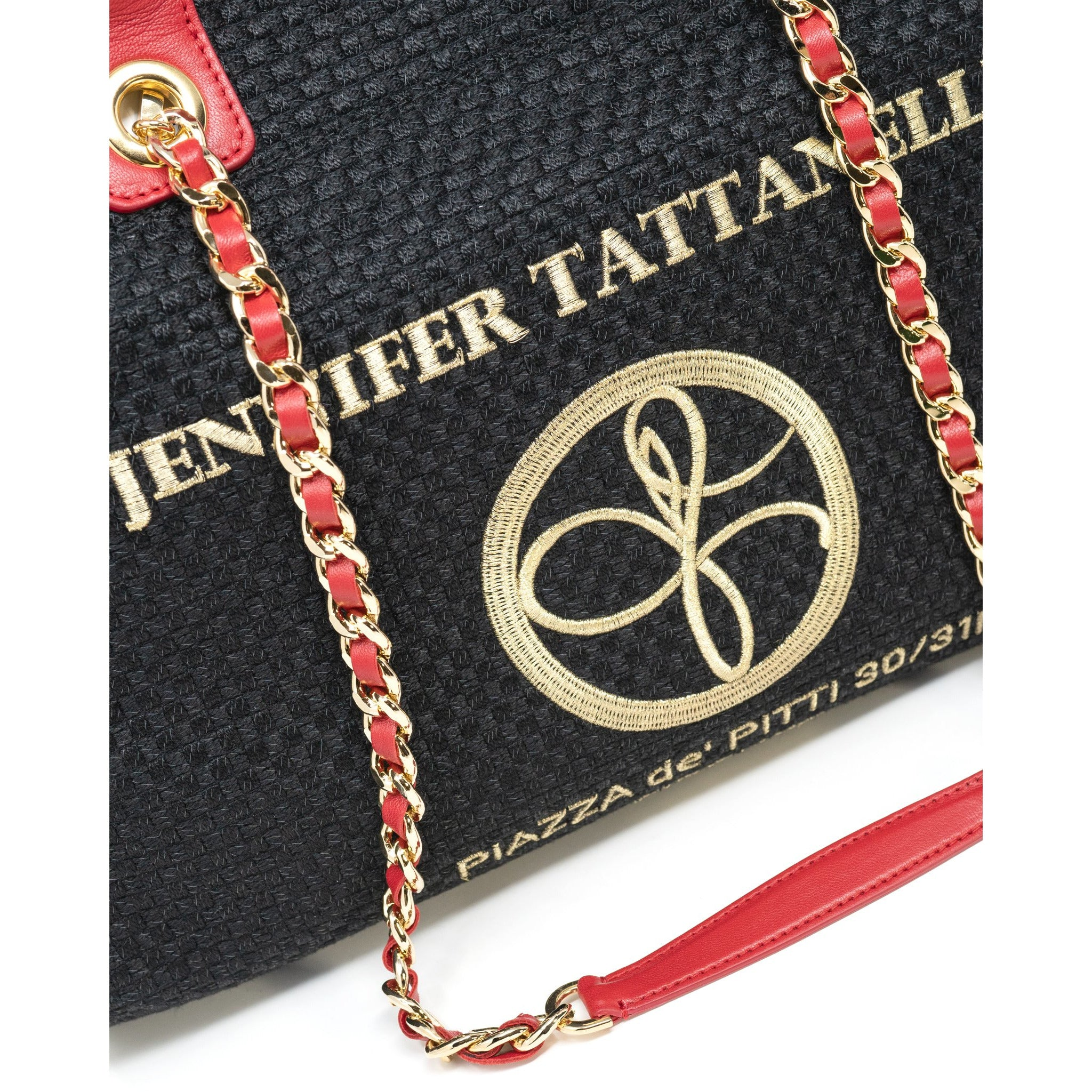 The Hamptons Large Shopping Bag in Red - Jennifer Tattanelli