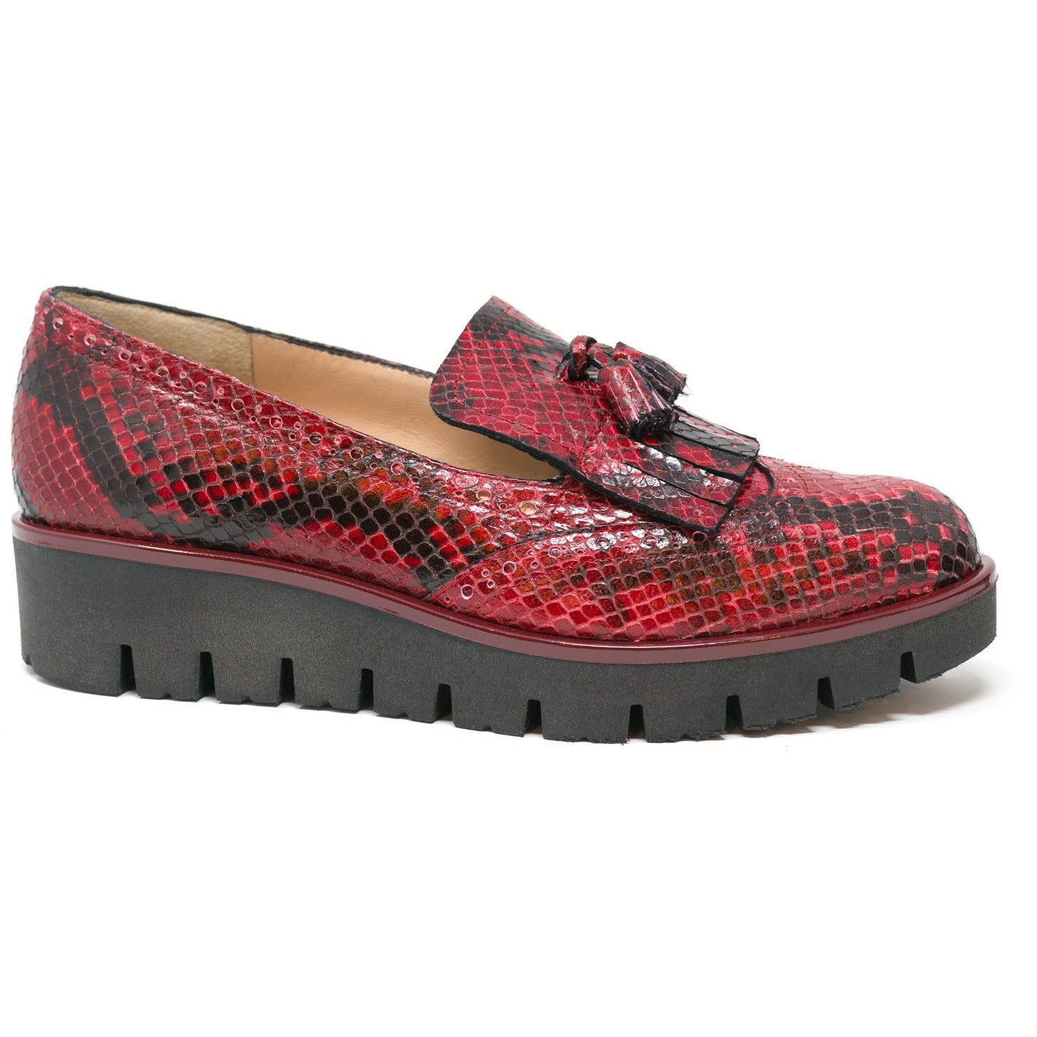 MIL6065 T20 Red Python Women Slip On - New Fall Winter 2019-2020 Collection
