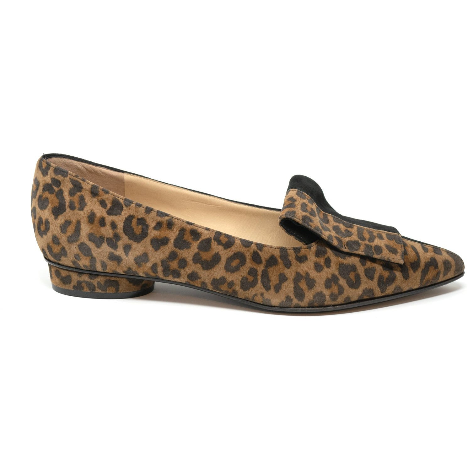 MIL8201 T10 Leopard Lamb Hair and Suede Women Flats - Jennifer Tattanelli