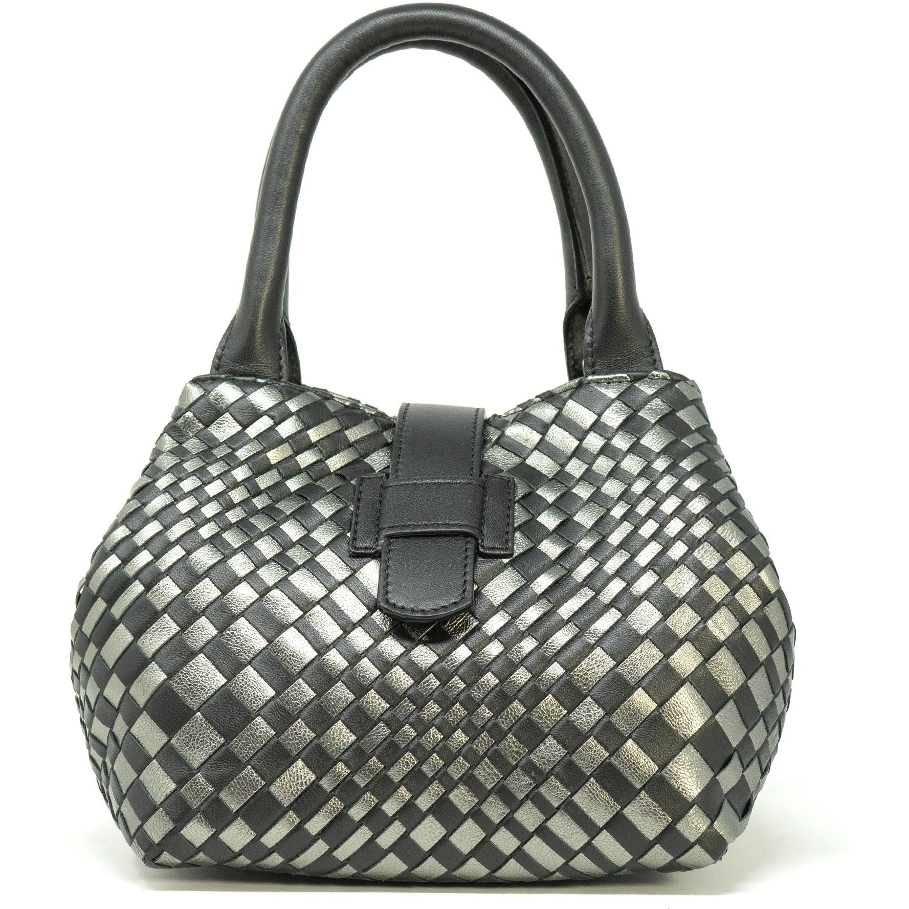 Lucia Top Handle Bag in Black