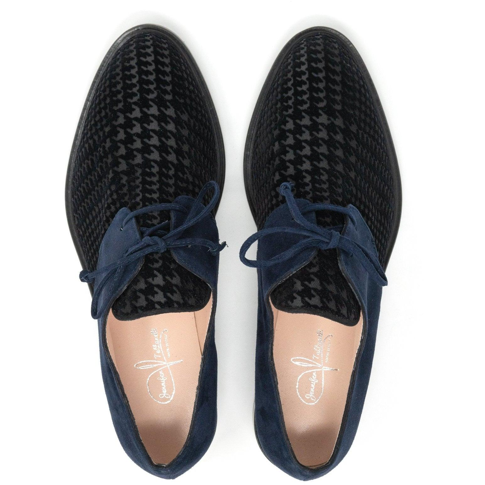 Women Lace Up in Navy Blue