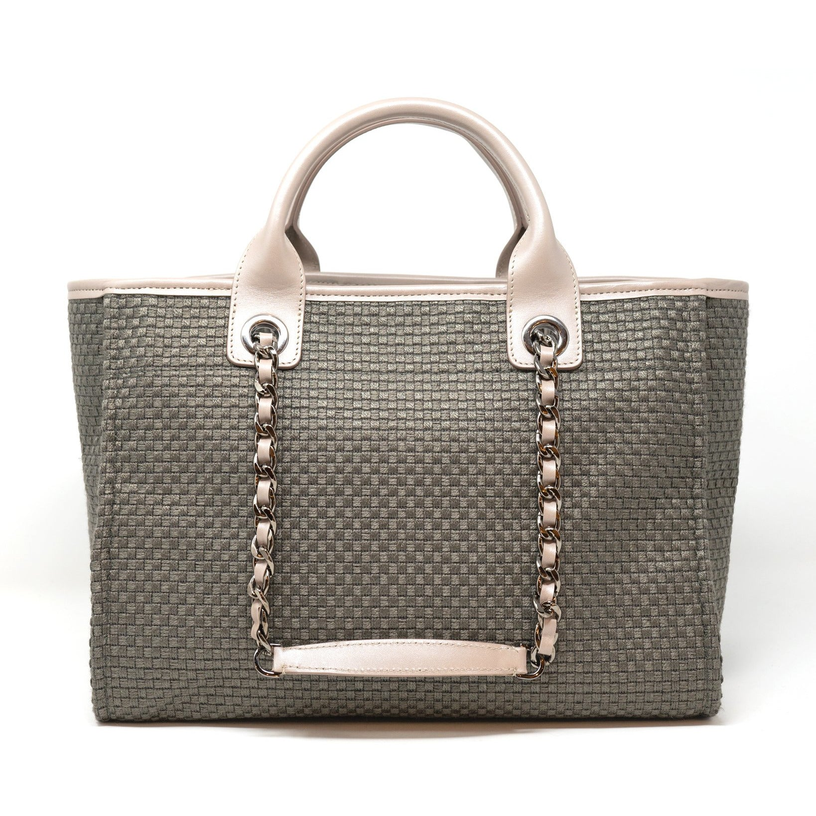 The Palm Beach Medium Shopping Bag in Taupe - Jennifer Tattanelli