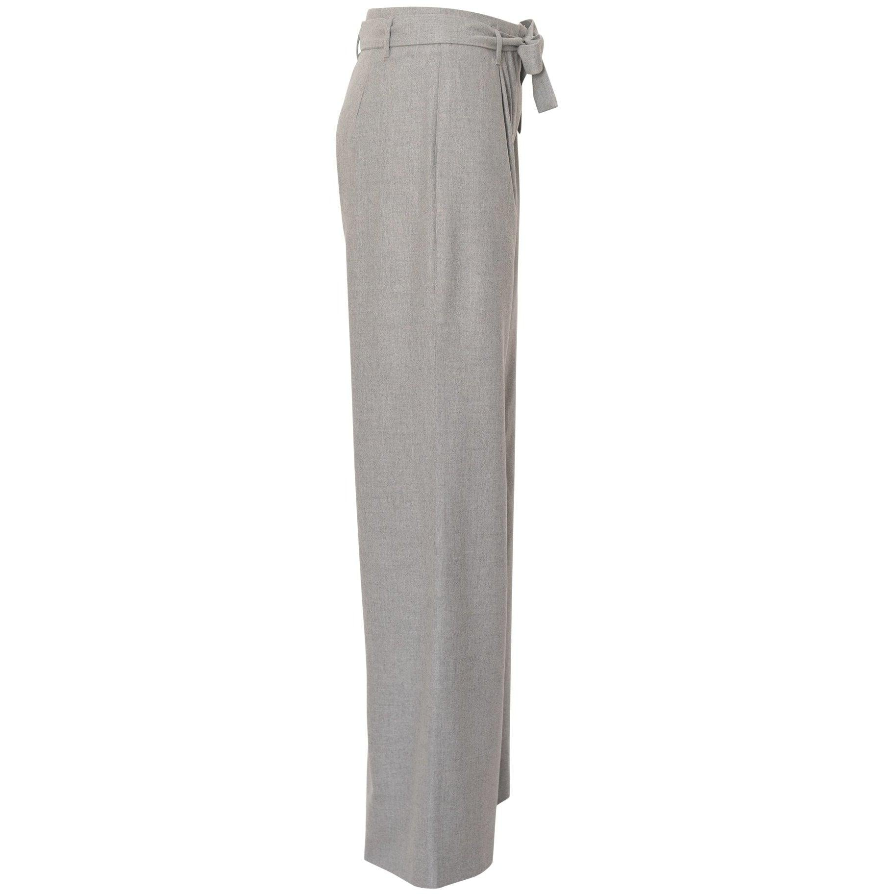 Wide Leg High-Waisted Pants in Grey