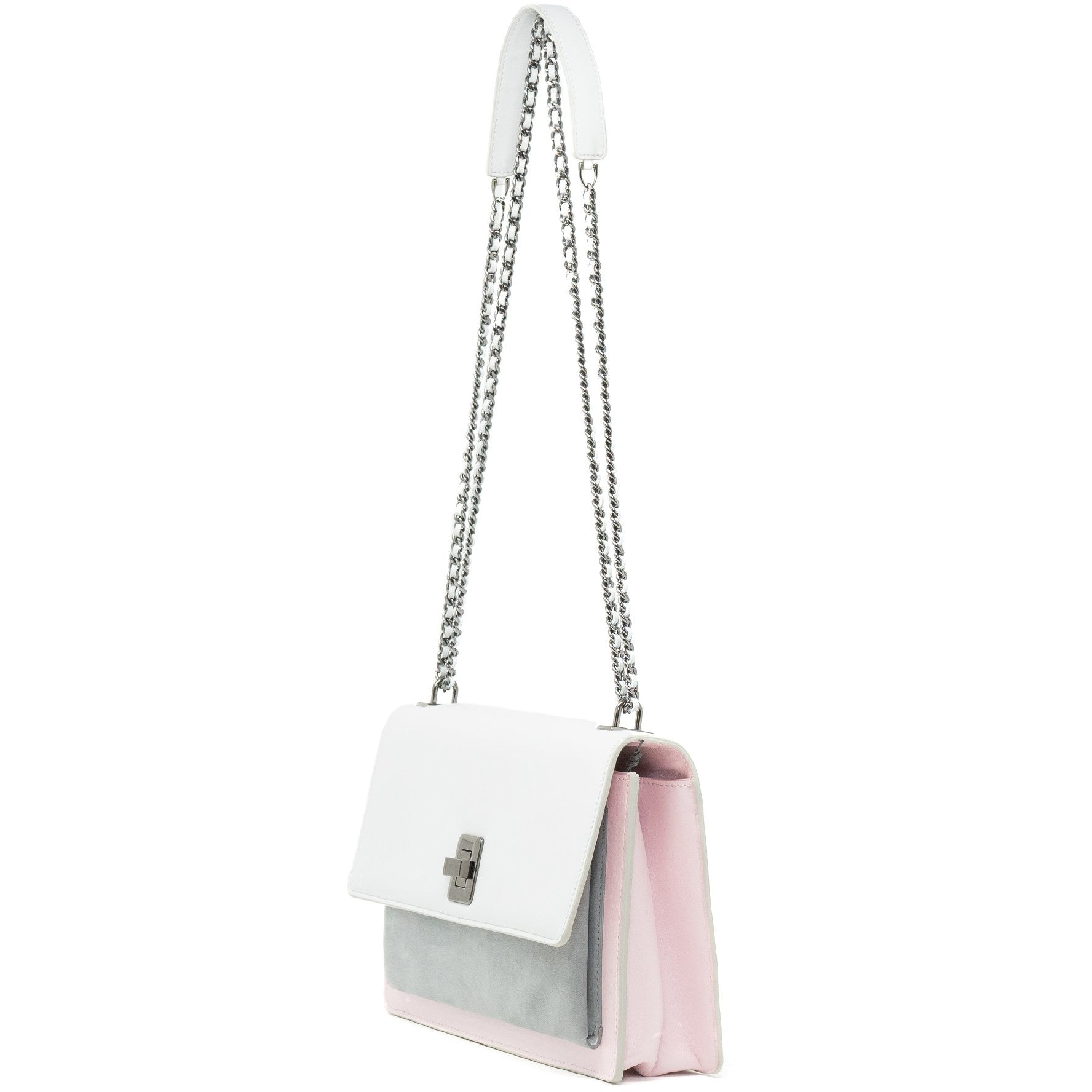 Women Leather Shoulder Bag in Ice