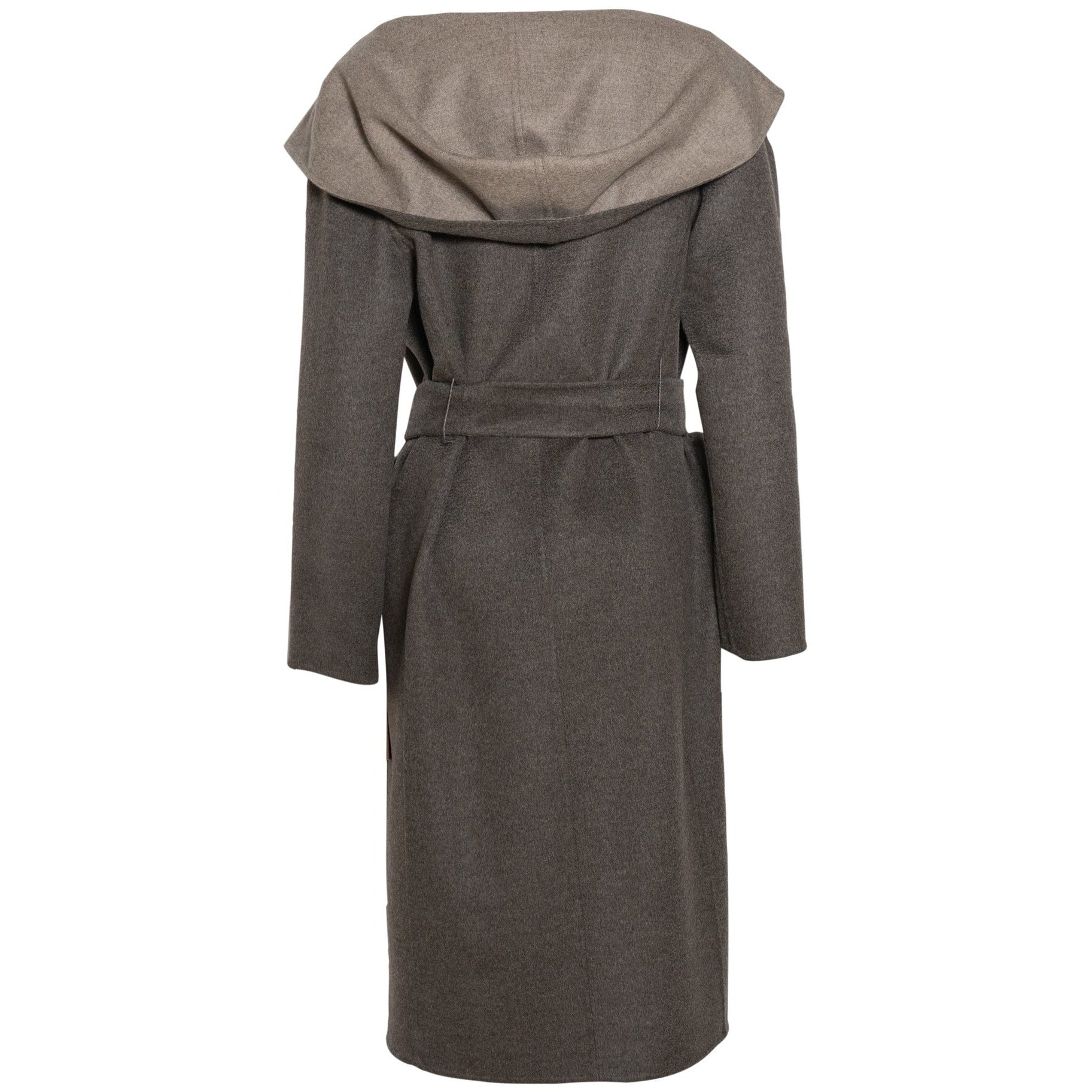REVERSIBLE CASHMERE LONG COAT WITH MINK DETAILS