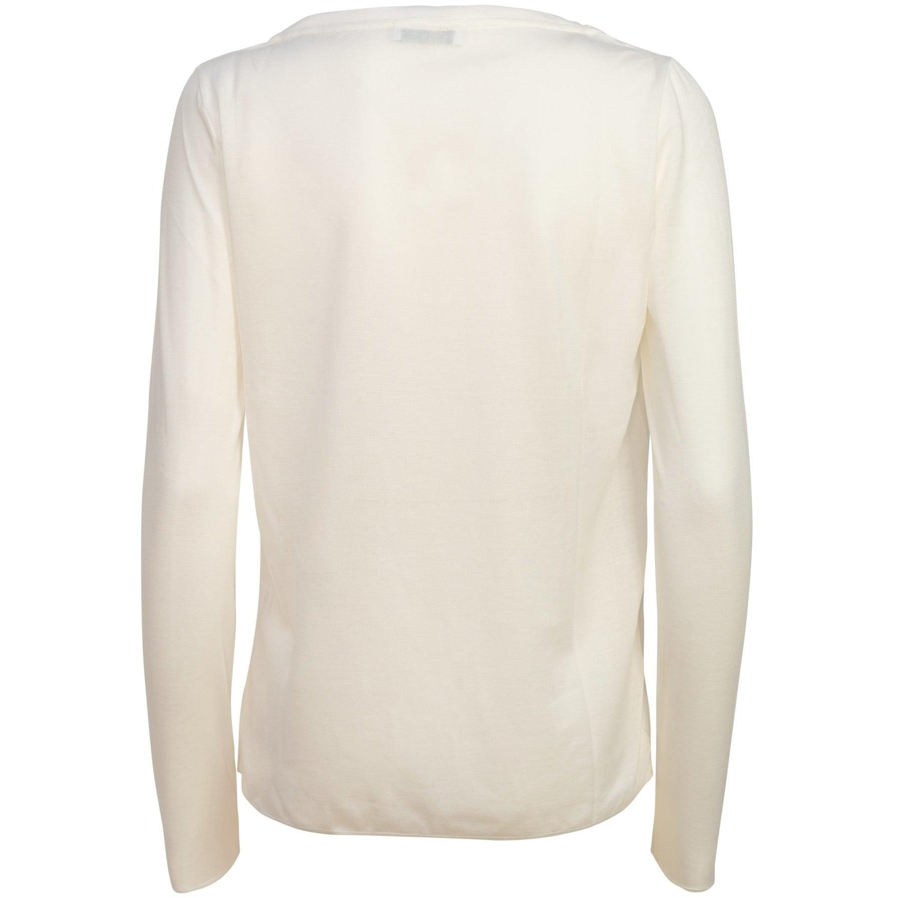 Women Long Sleeve Modal Top In White