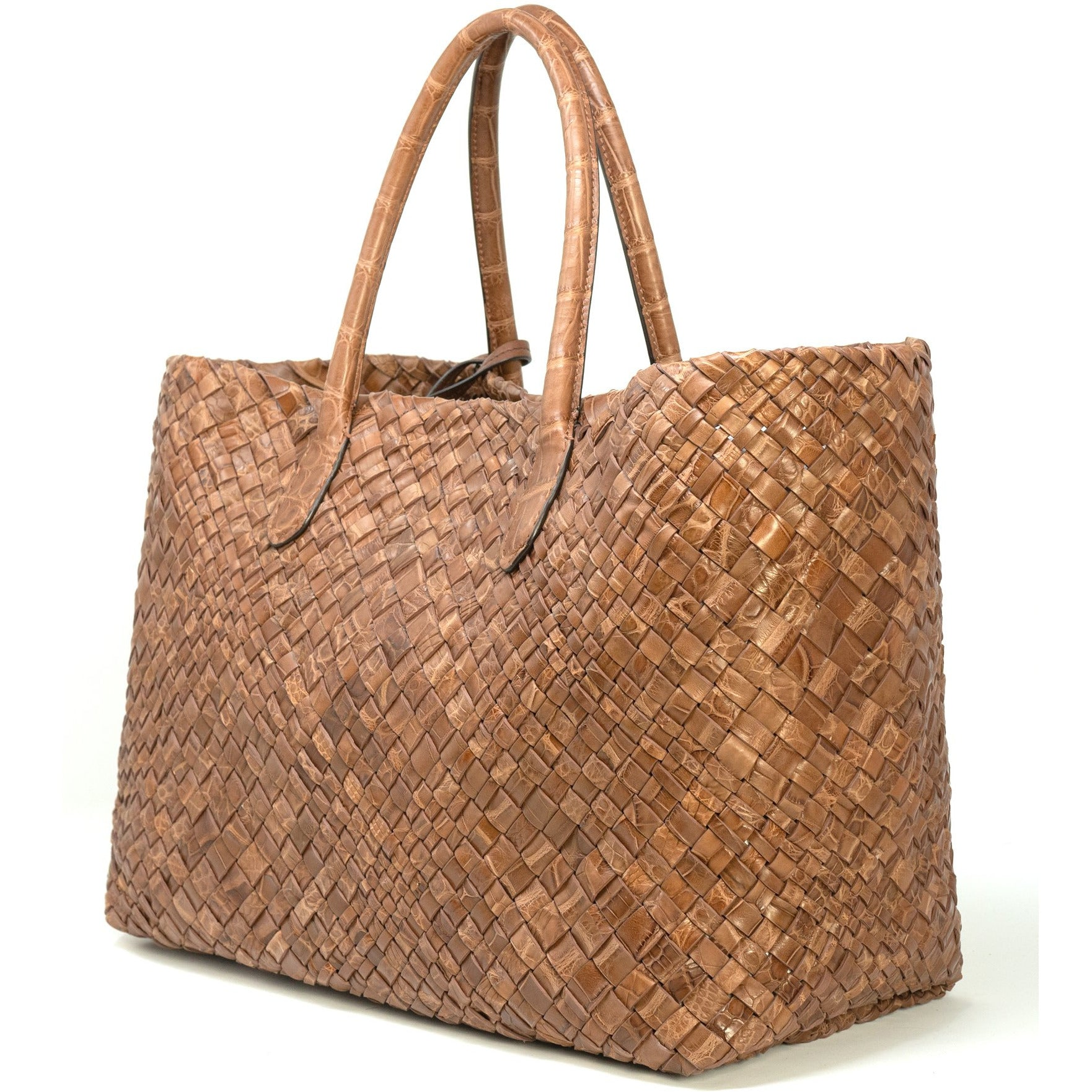 Crocodile Intrecciato Women Leather Tote Bag FAL1000C - Jennifer Tattanelli