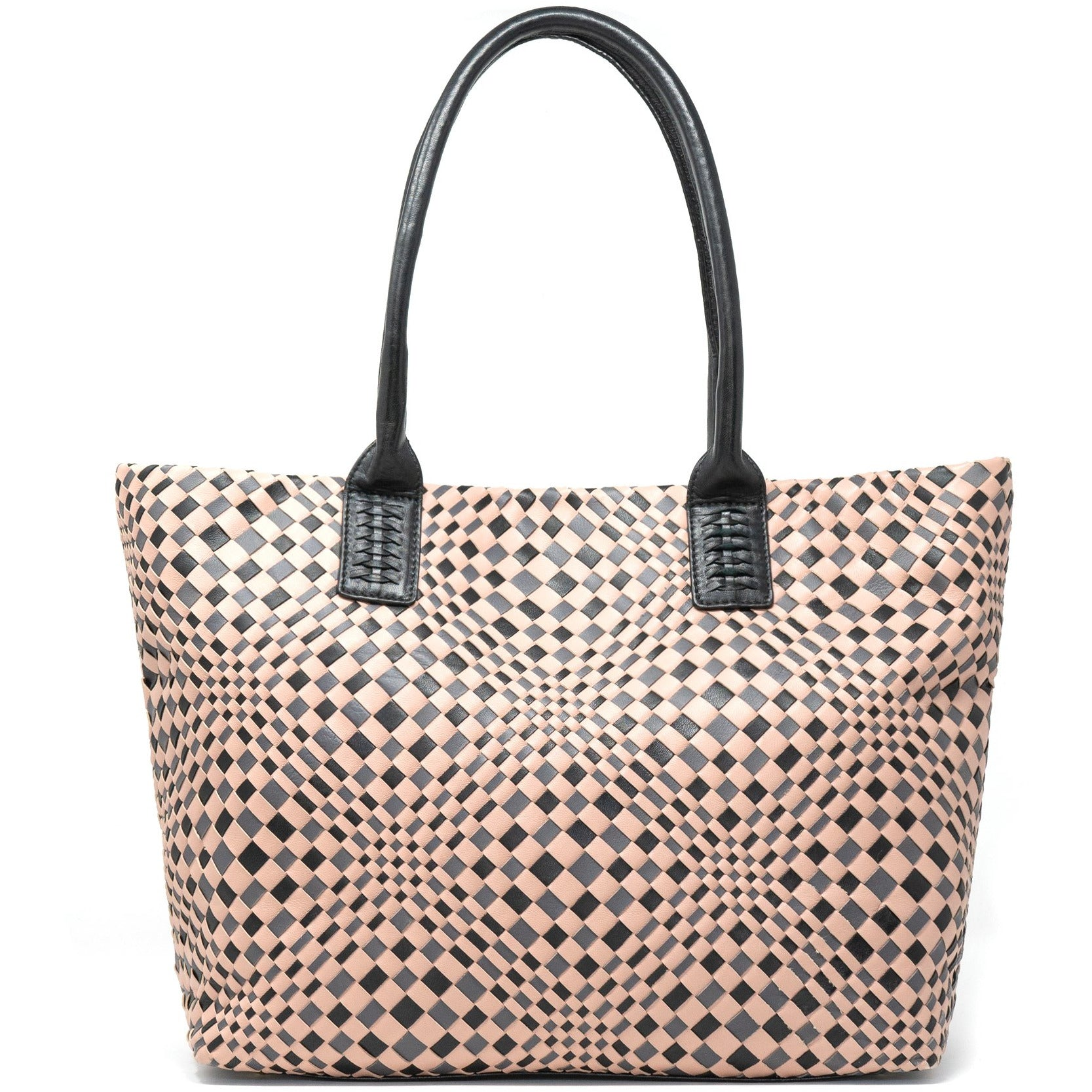 JT320 5168 35 Leather Intrecciato Optical Tote Bag - New Spring Summer 2020 Collection