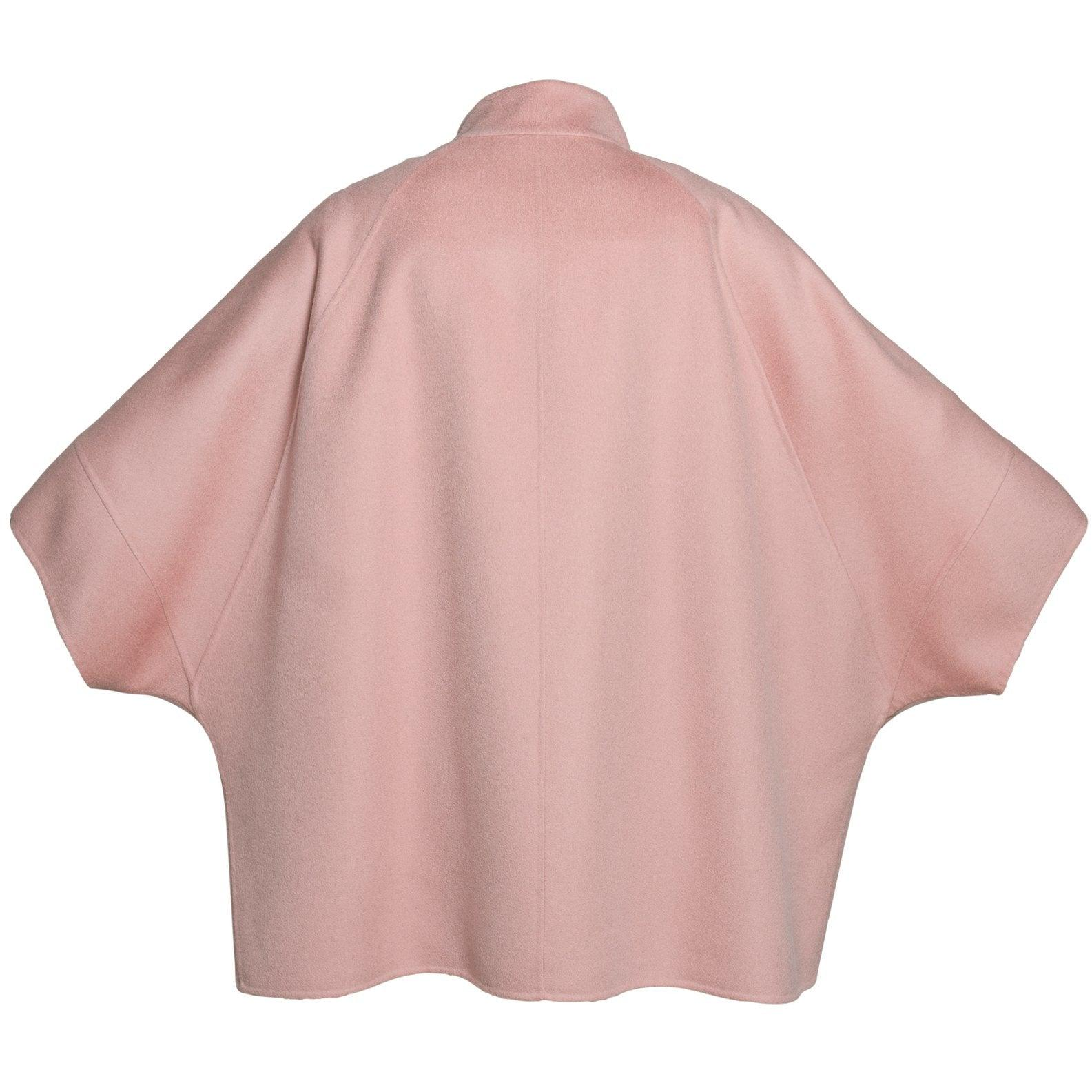 REVERSIBLE CASHMERE CAPE WITH MINK COLLAR - ROS1854 New 2020 Collection