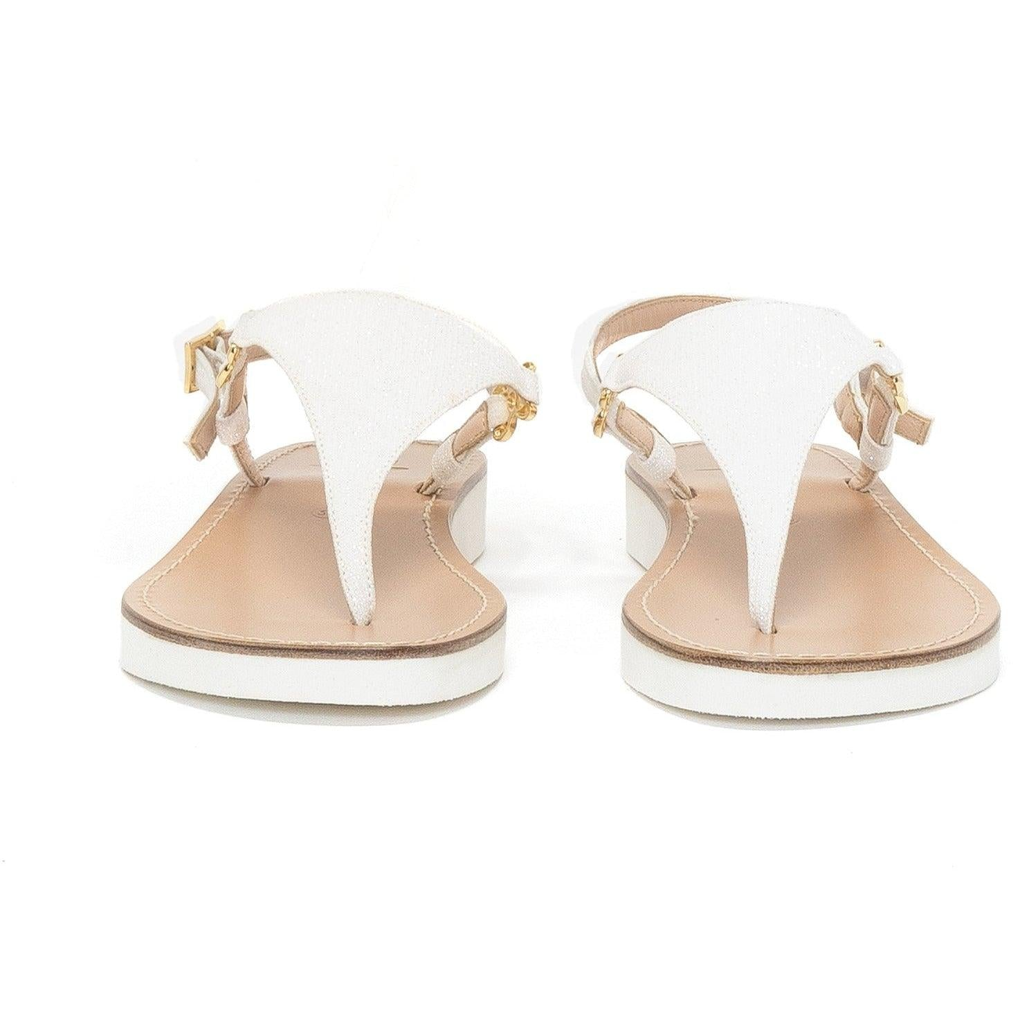 Women Sandals in White Nappa