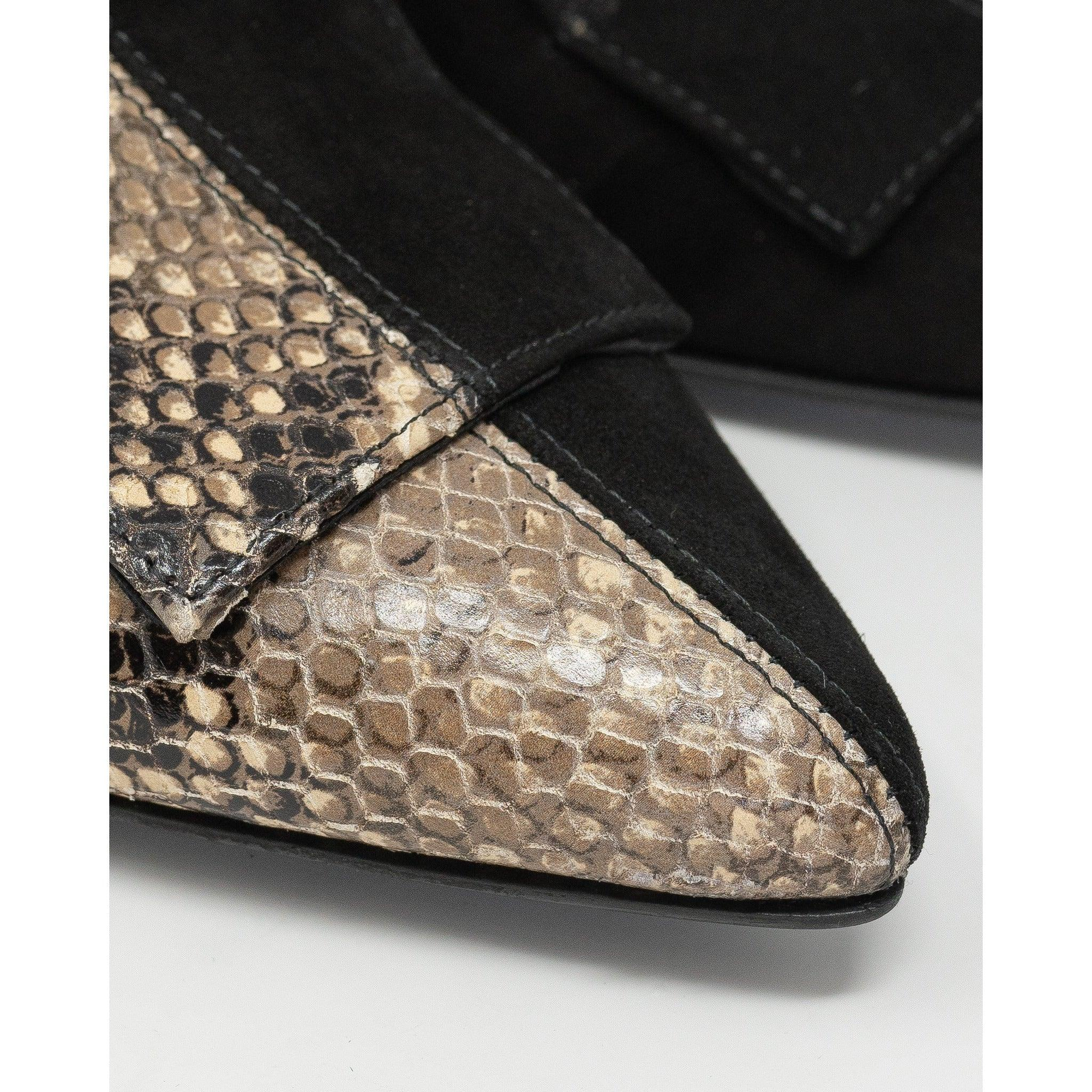 Women's Python and Suede in Black